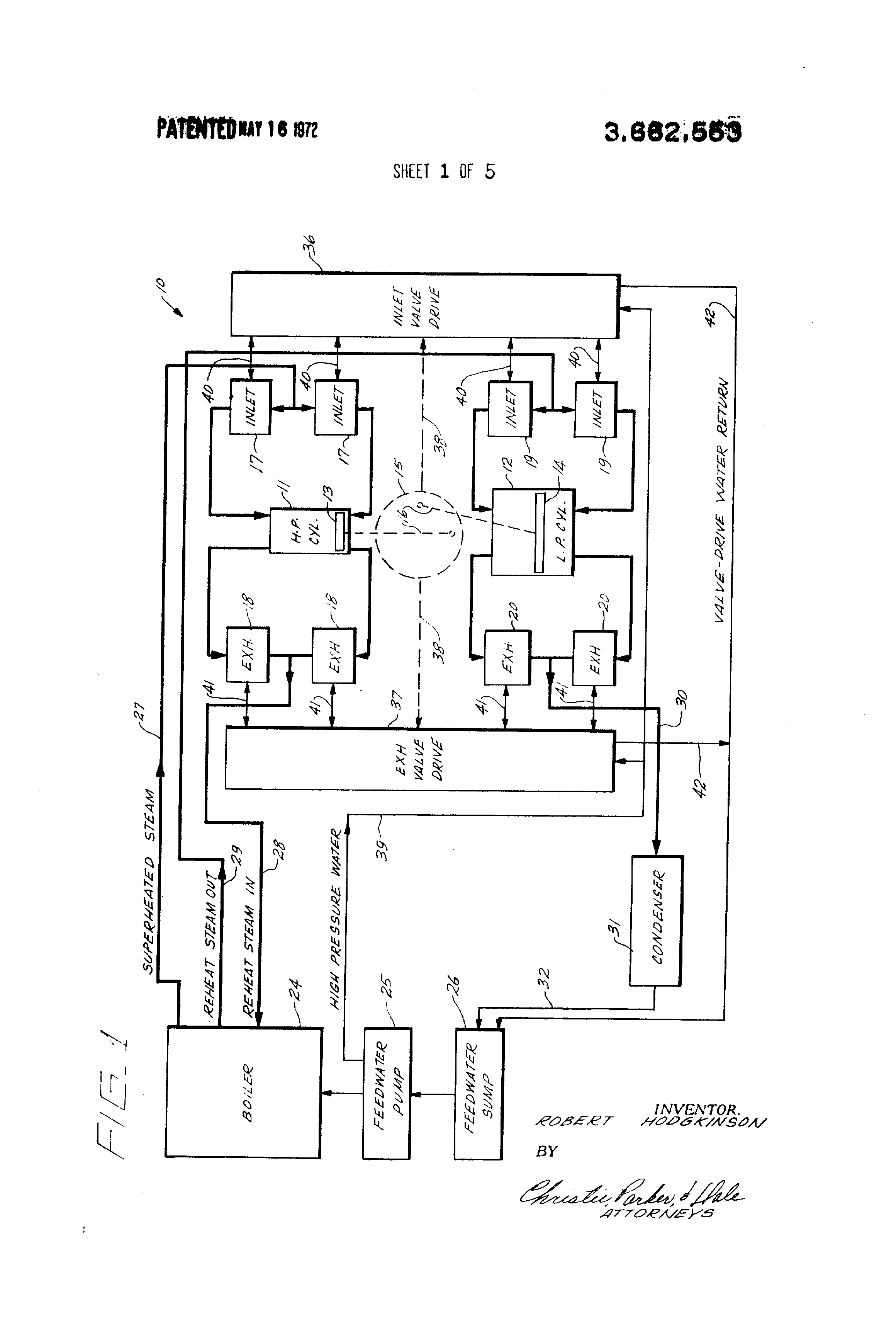 Patent Us3662553 Valve Actuation System For Steam Engine Google Piston Diagram Drawing