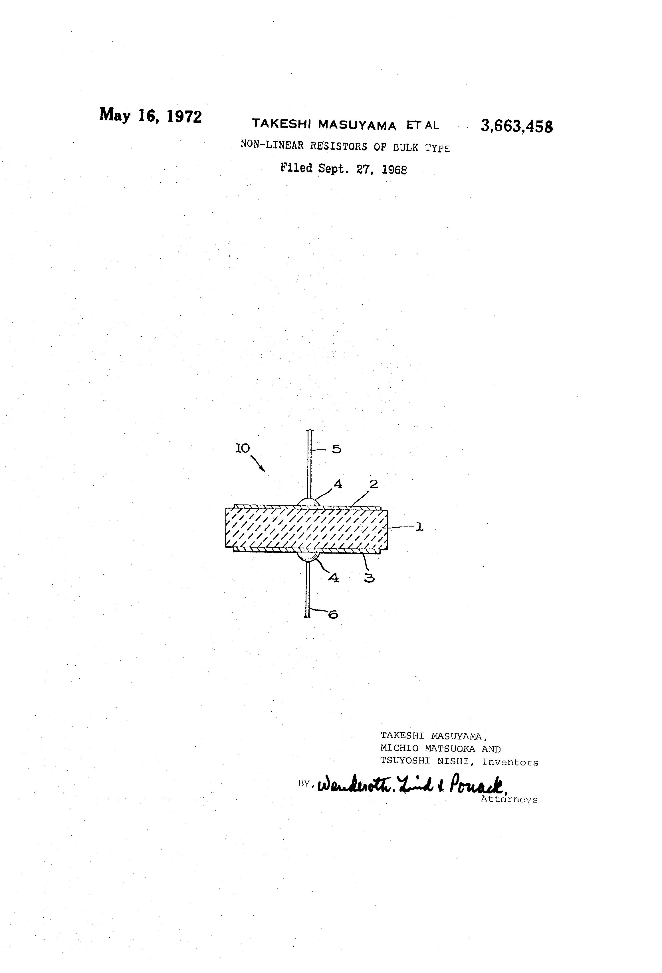 patent us3663458 nonlinear resistors of bulk type google patentsNonlinear Variable Resistor Google Patents On 3 Wire Variable Resistor #7