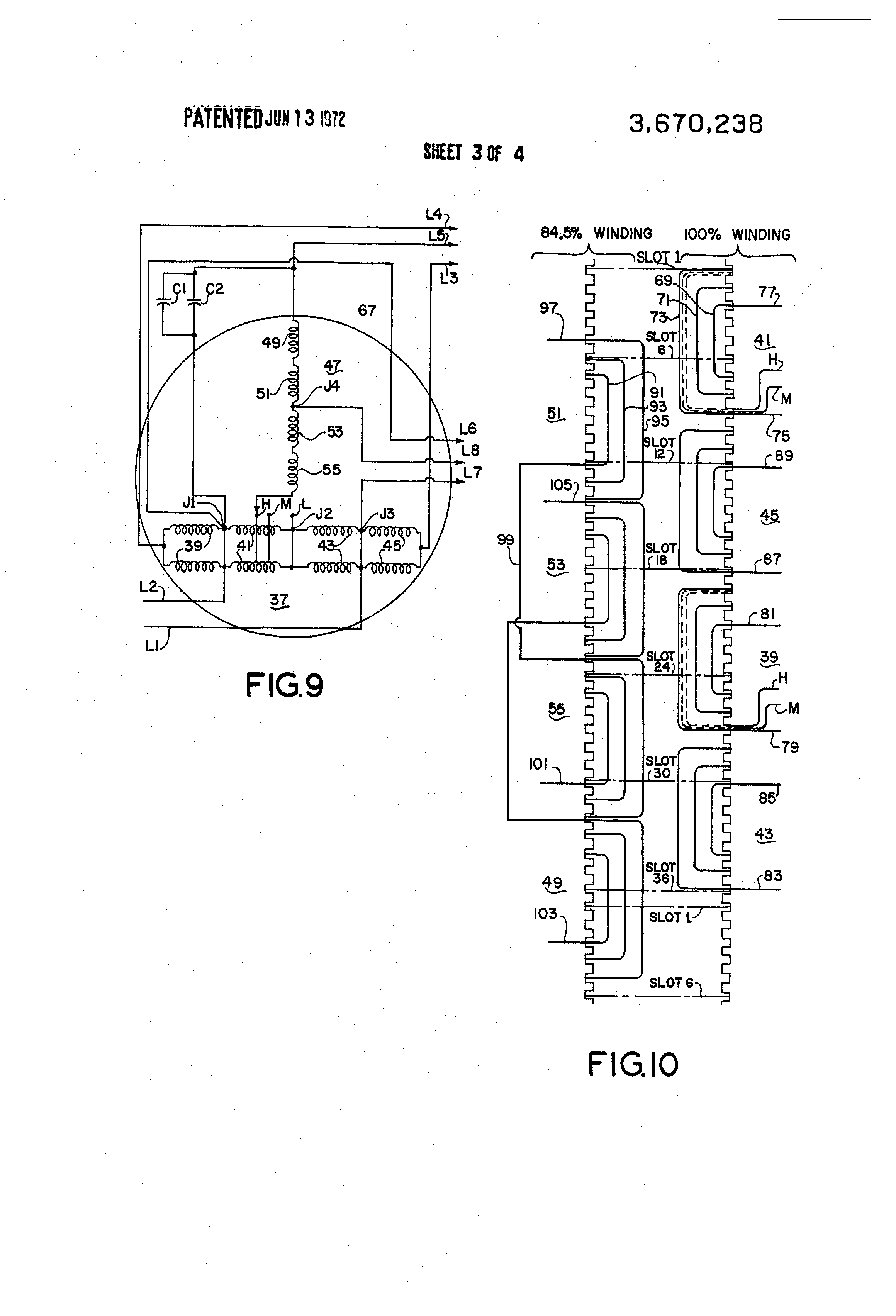 patent us3670238 - rotary dynamoelectric machine having high-resistance rotor