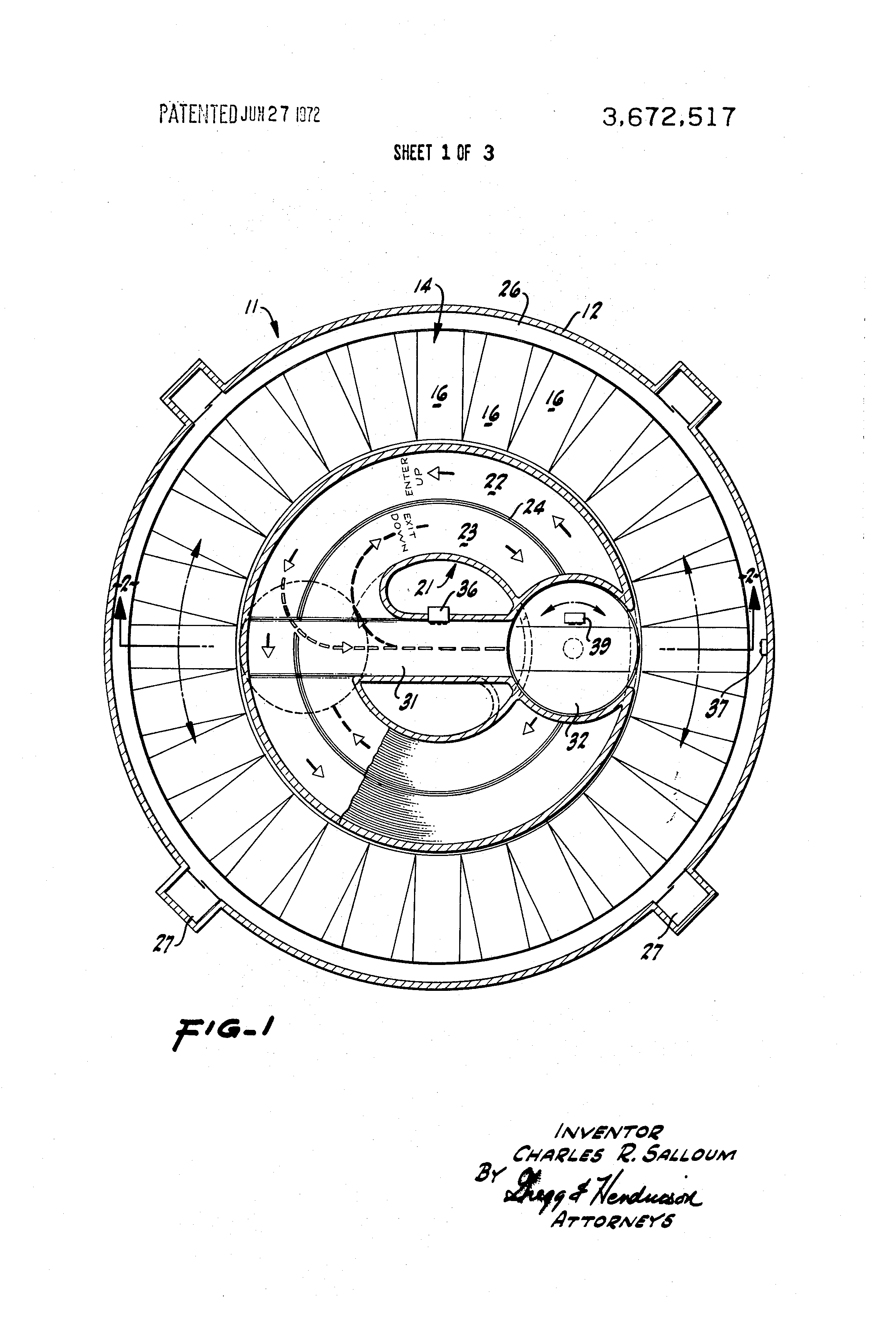 Patent Us3672517 Rotary Vehicle Parking System With Ramp