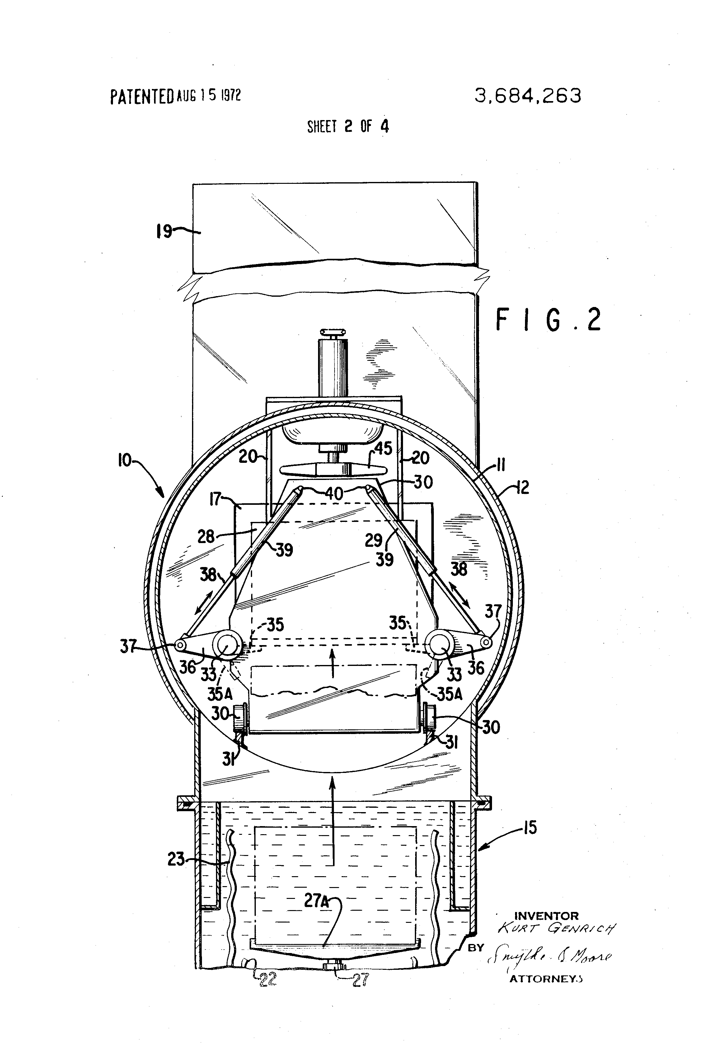 patent us3684263 - vacuum oil quench furnace