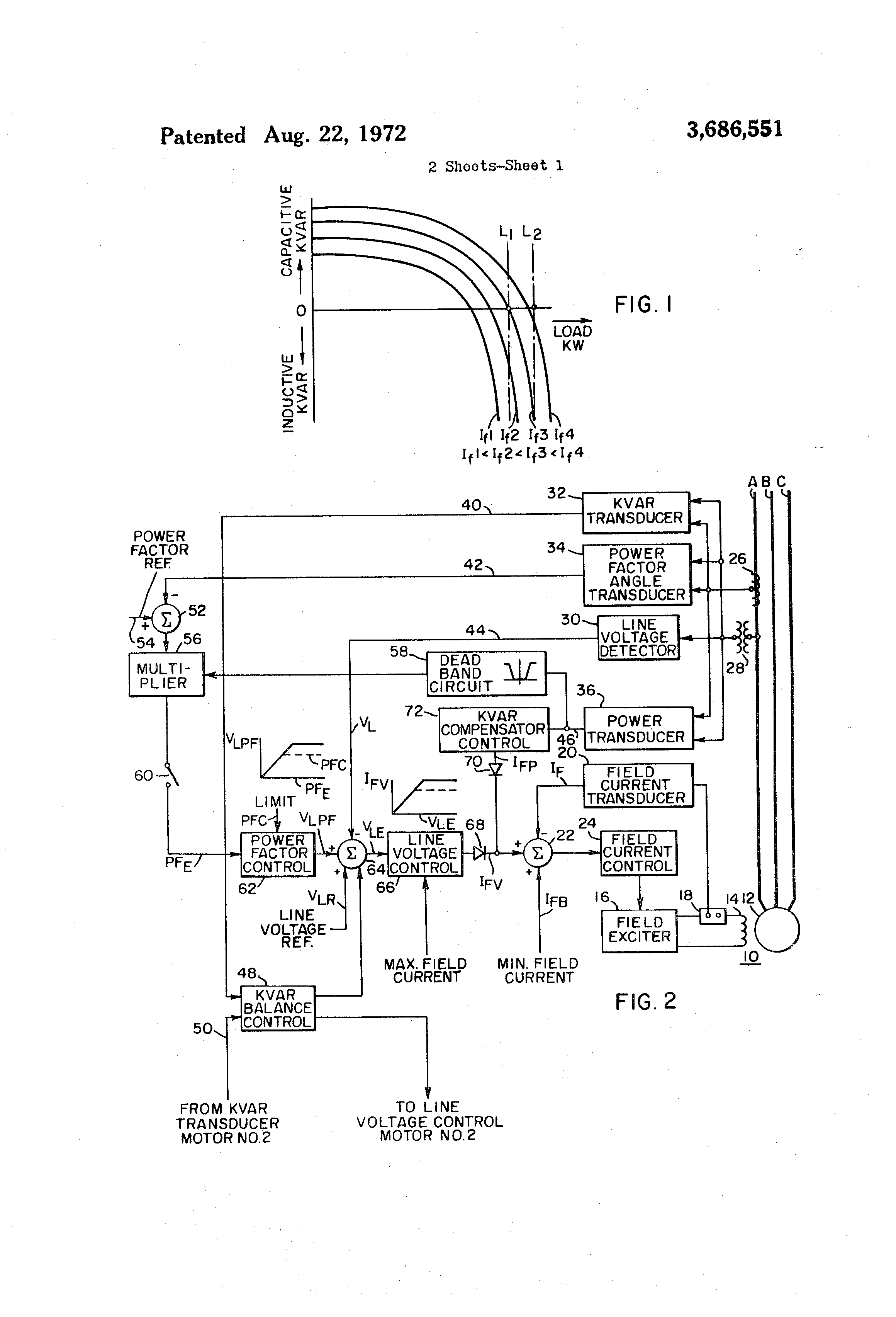 Patent Us3686551 Synchronous Motor Field Regulator Control Synchronized Triac For Small Induction Speed Drawing