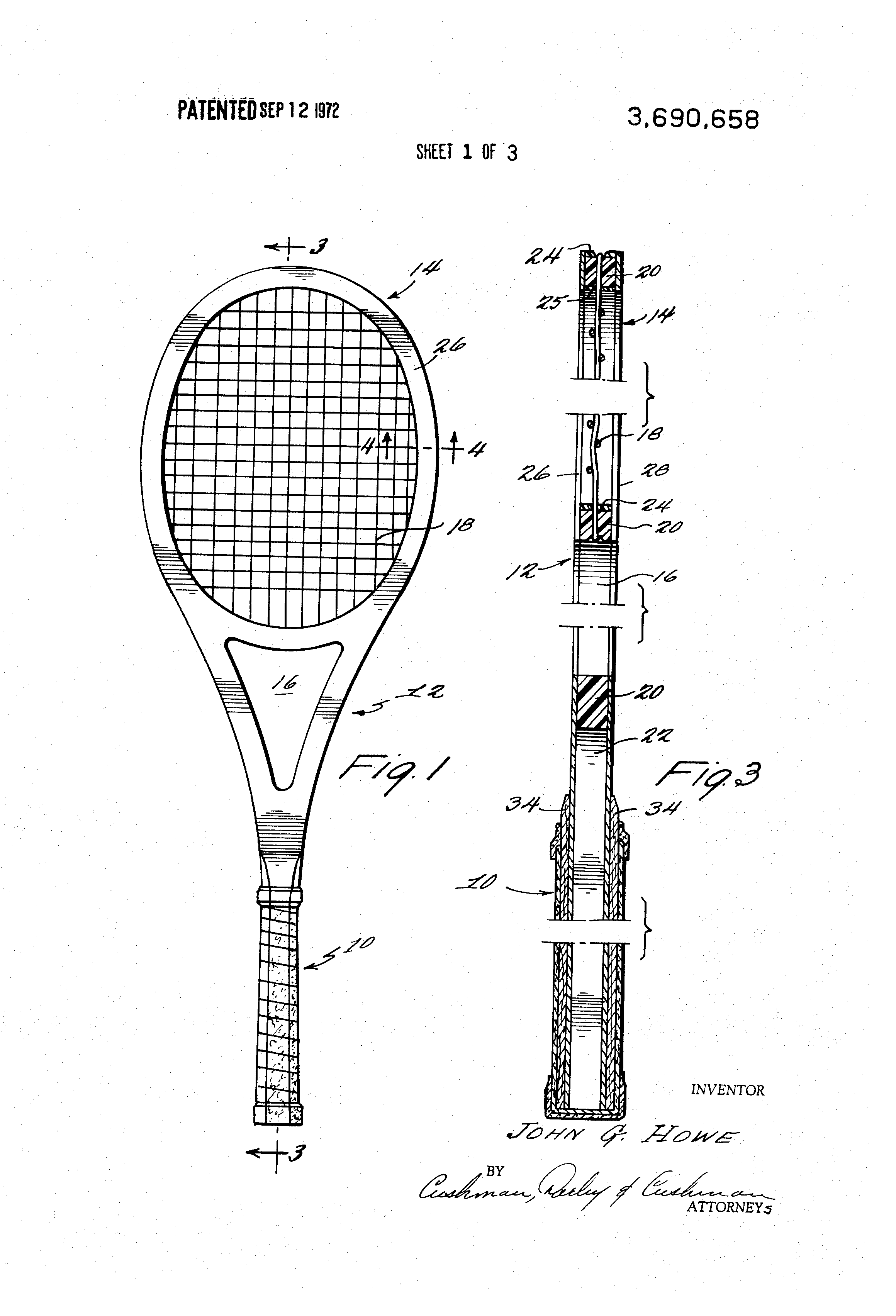 What material properties are needed in a tennis racket frame?