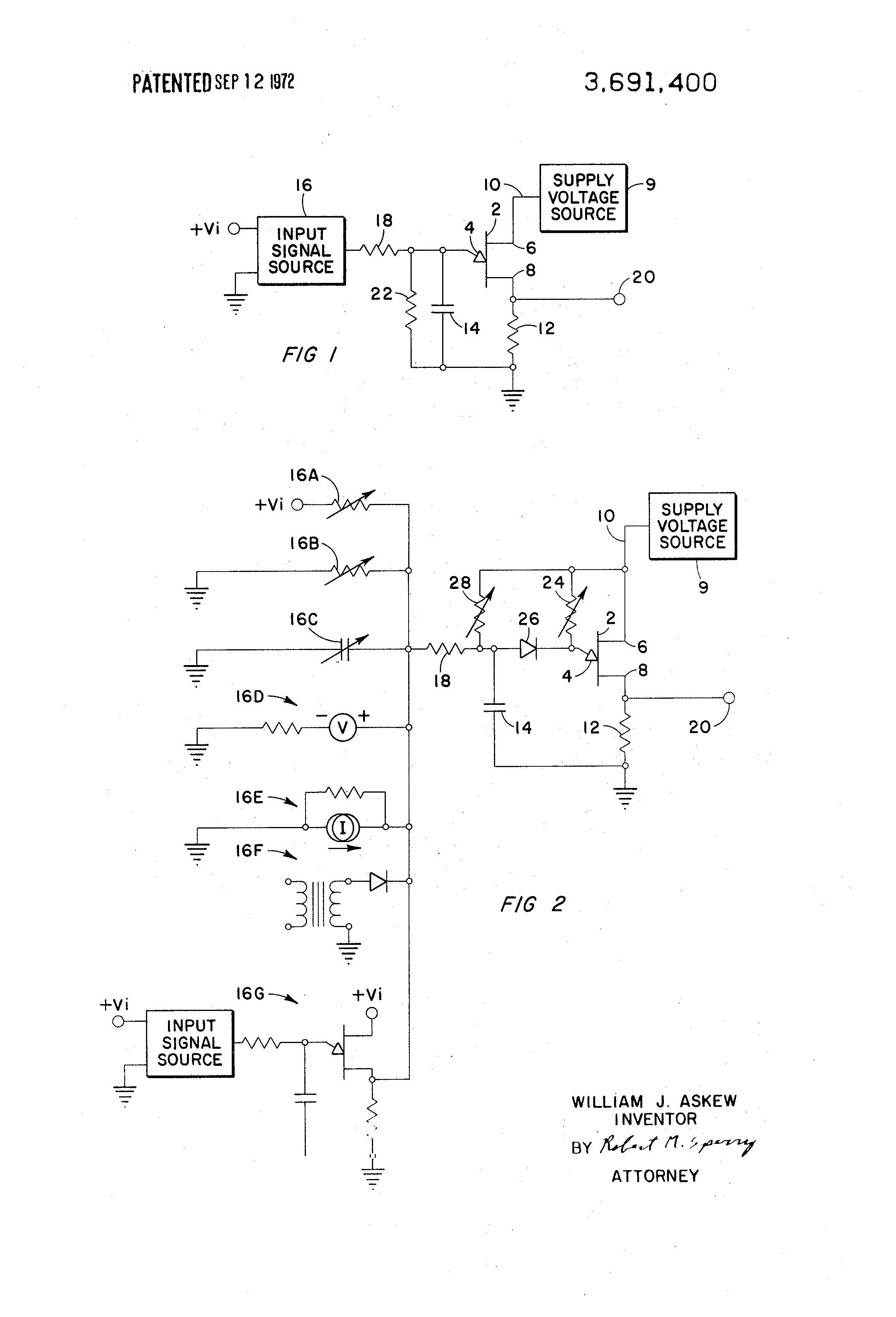 Patente Us3691400 Unijunction Transistor Artificial Neuron Ujt Uni Junction Transistors Patent Drawing