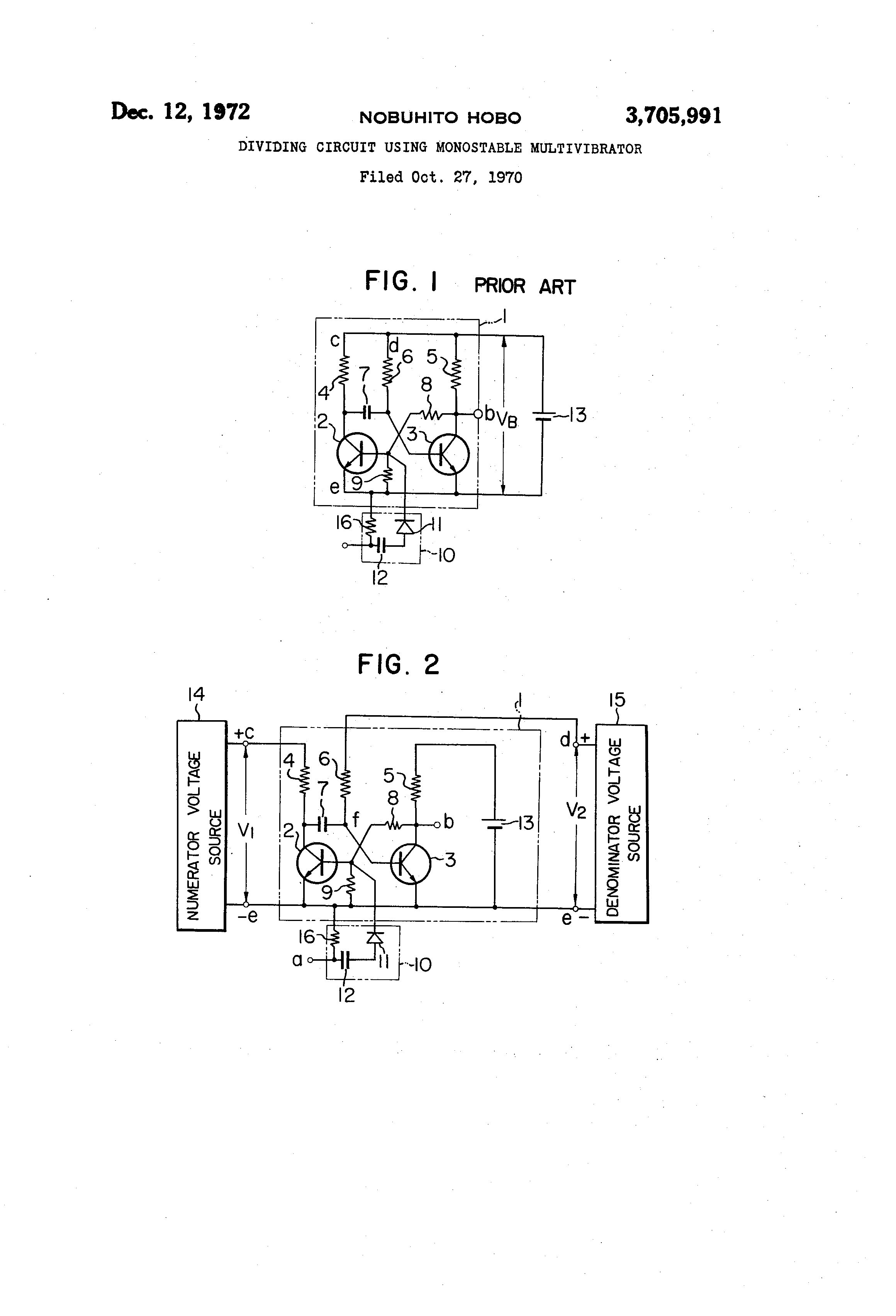 Patent Us3705991 Dividing Circuit Using Monostable Multivibrator In Describing The Output States Of Any Drawing