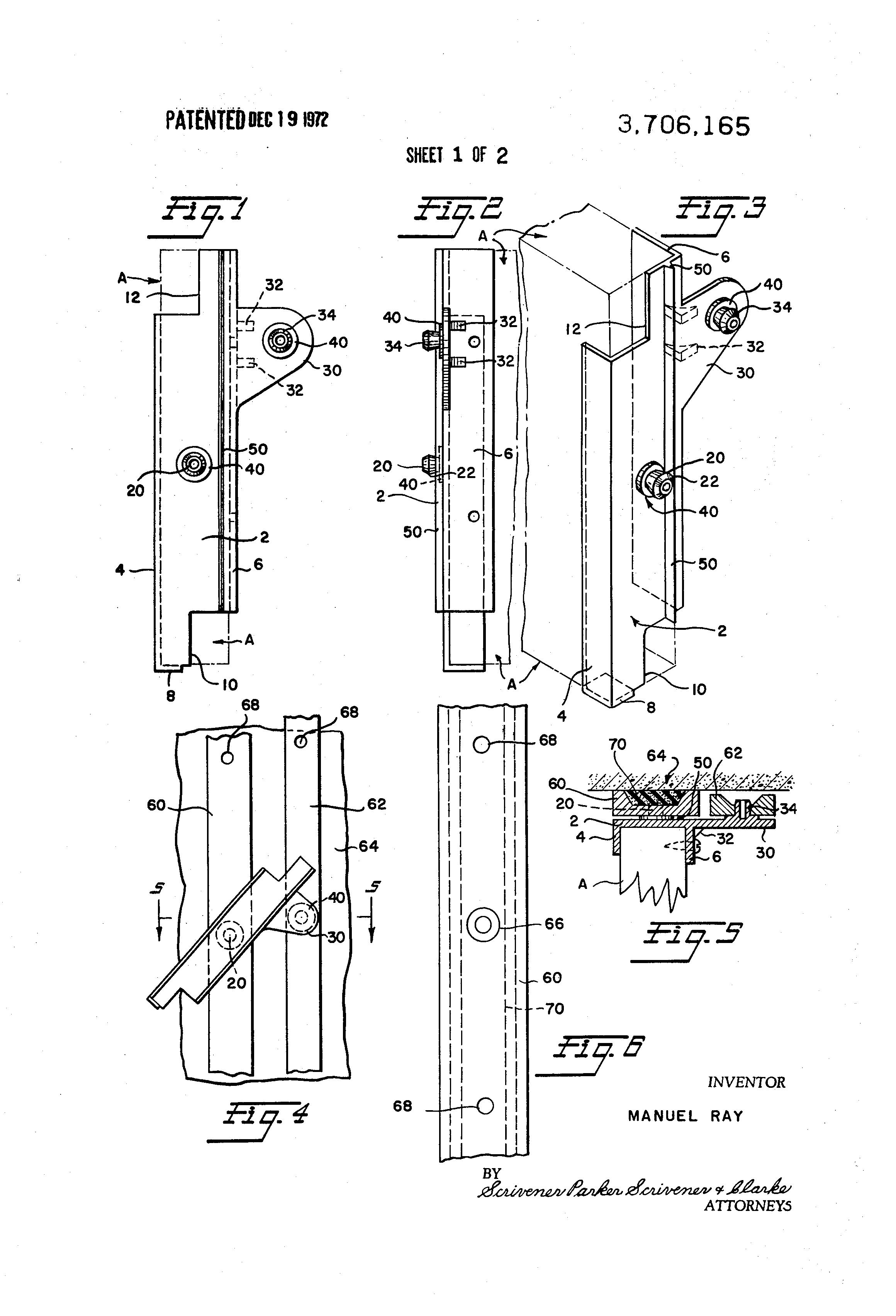 US3706165 in addition Replace An Rv Awning as well Index as well Showthread together with Construction Detailing Of The Spiders For The Glass Curtain Wall. on door frame diagram