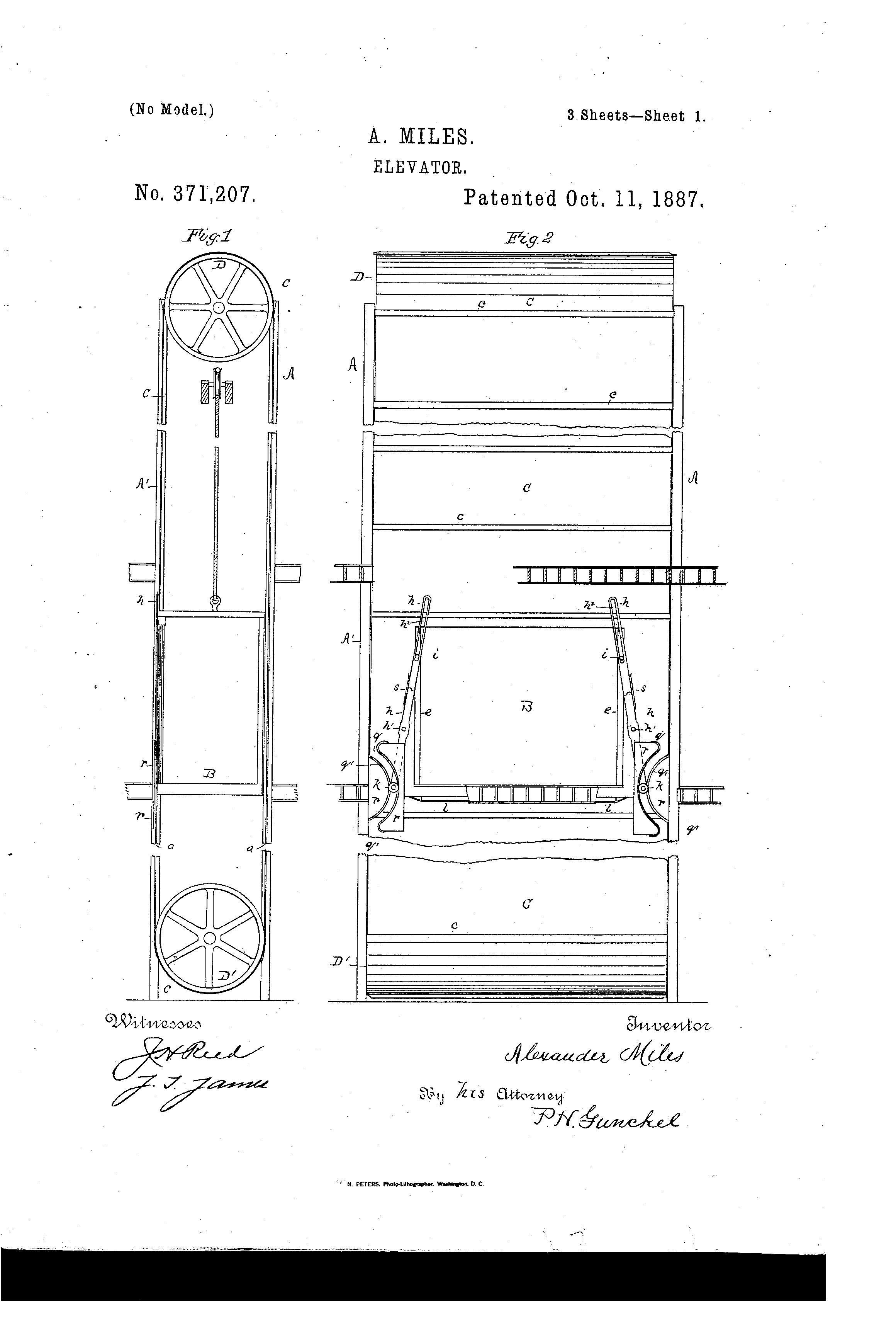 Patent Us371207 Elevator Google Patents