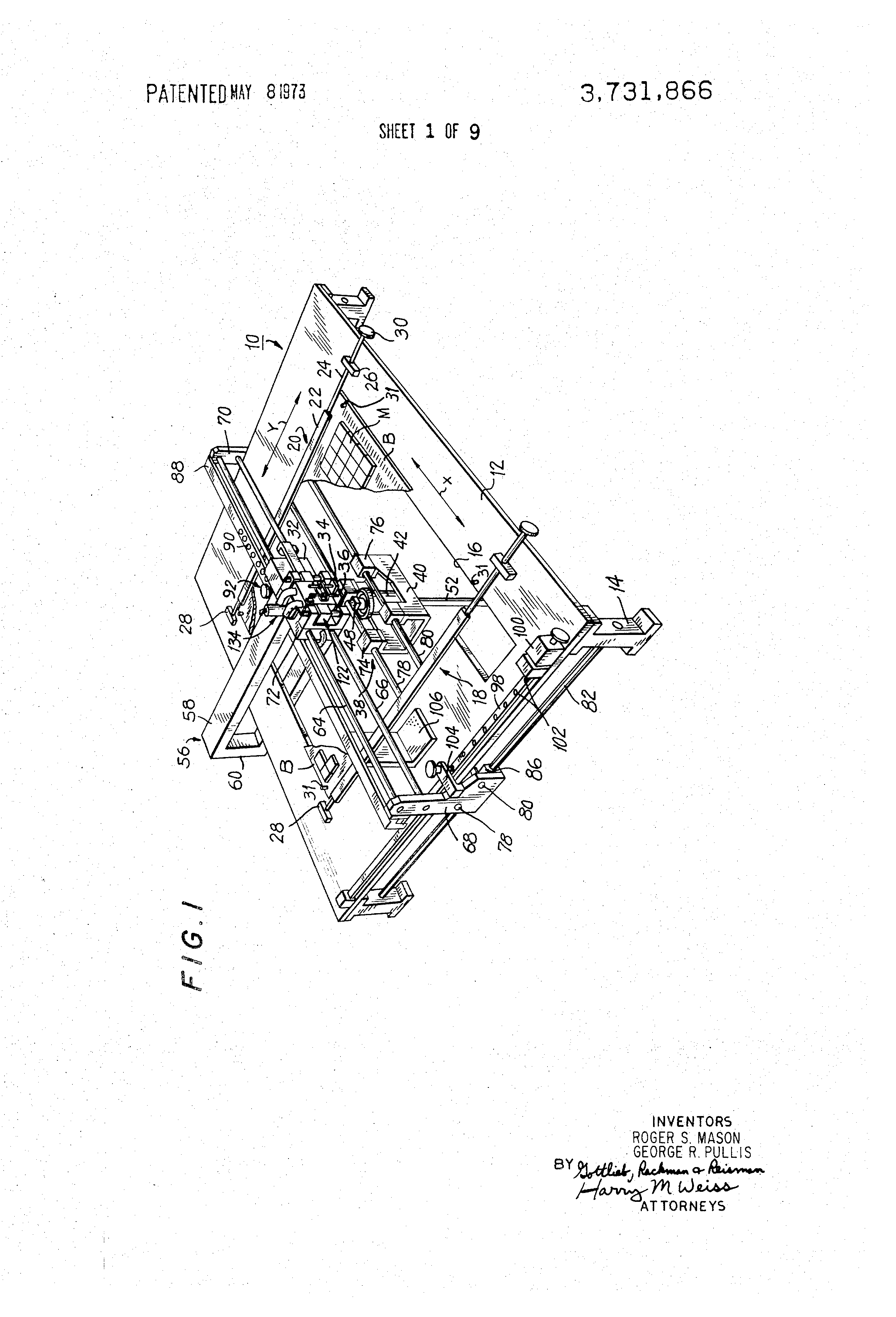 Patent Us3731866 Apparatus For Removing And Replacing Multi Pinned Remove Integrated Circuits Components From Printed Circuit Boards Drawing