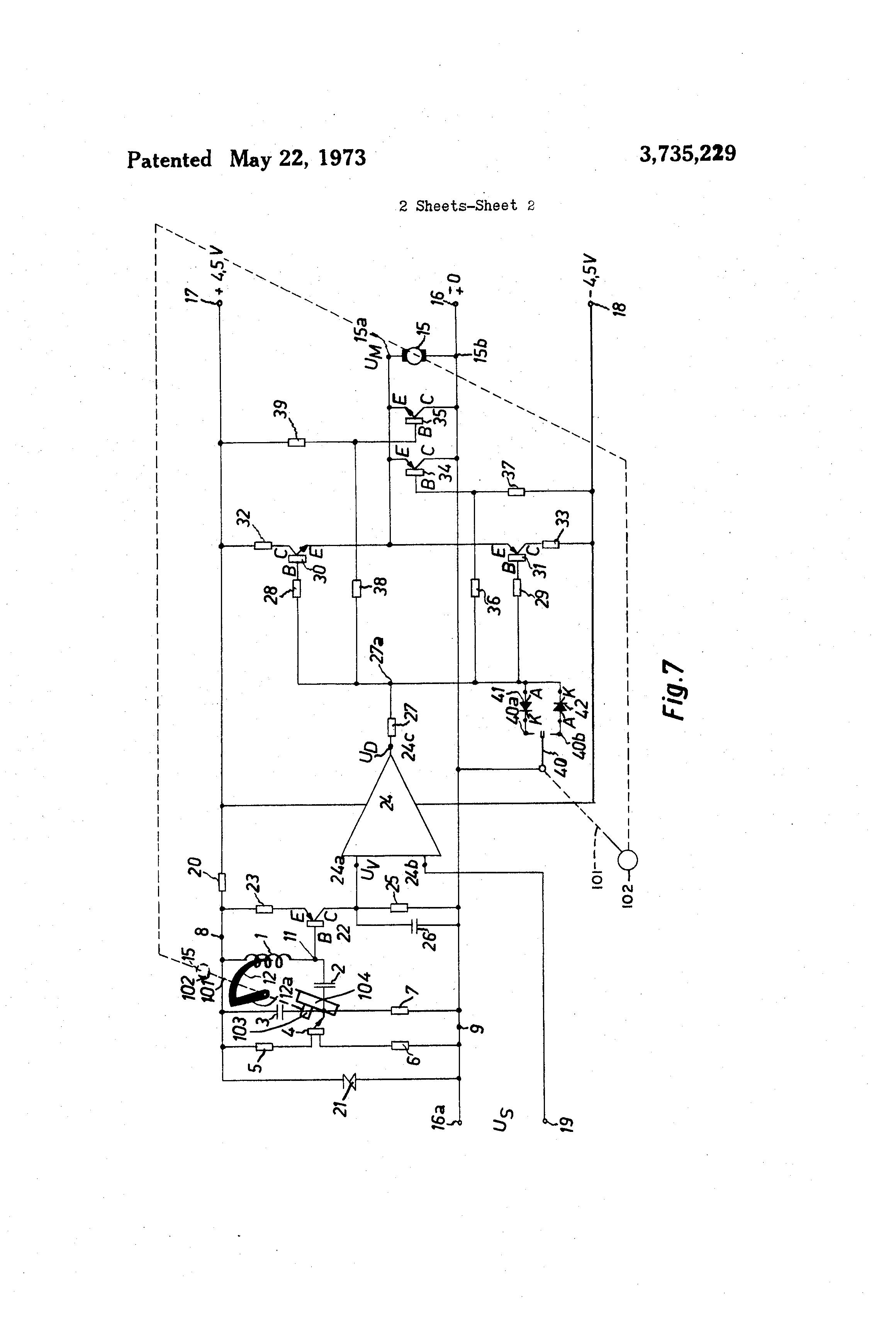 Patente Us3735229 Electrical Oscillating Servo Motor Control Pic Circuit Patent Drawing