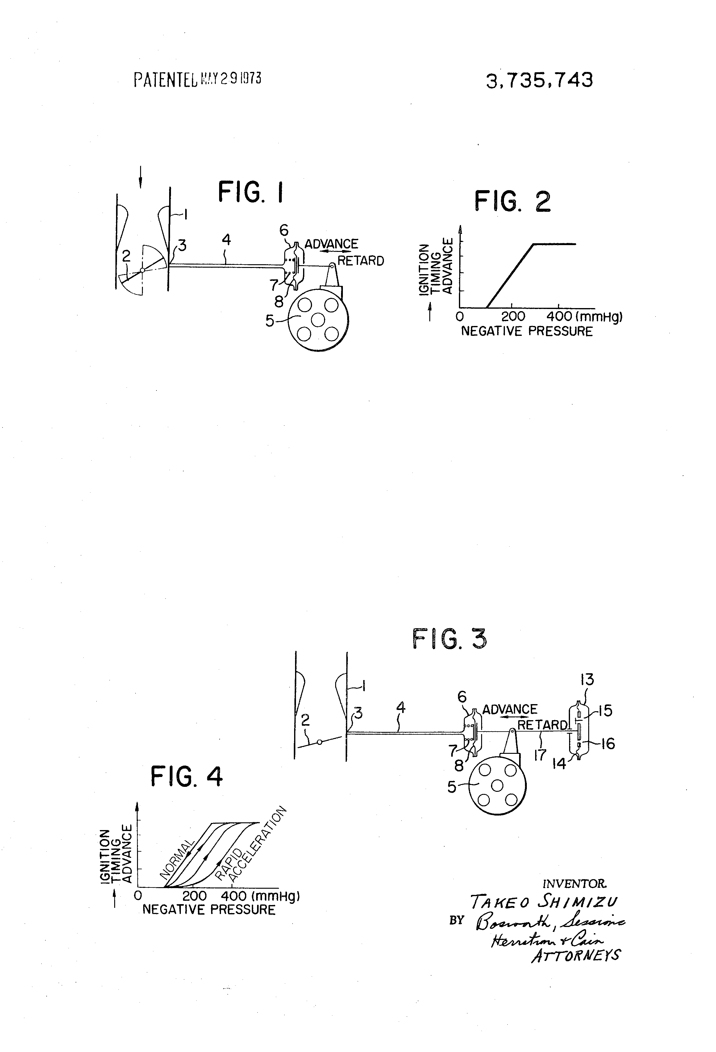 Patent Us3735743 Apparatus For Adjusting The Ignition Timing Mallory Unilite Advance Drawing