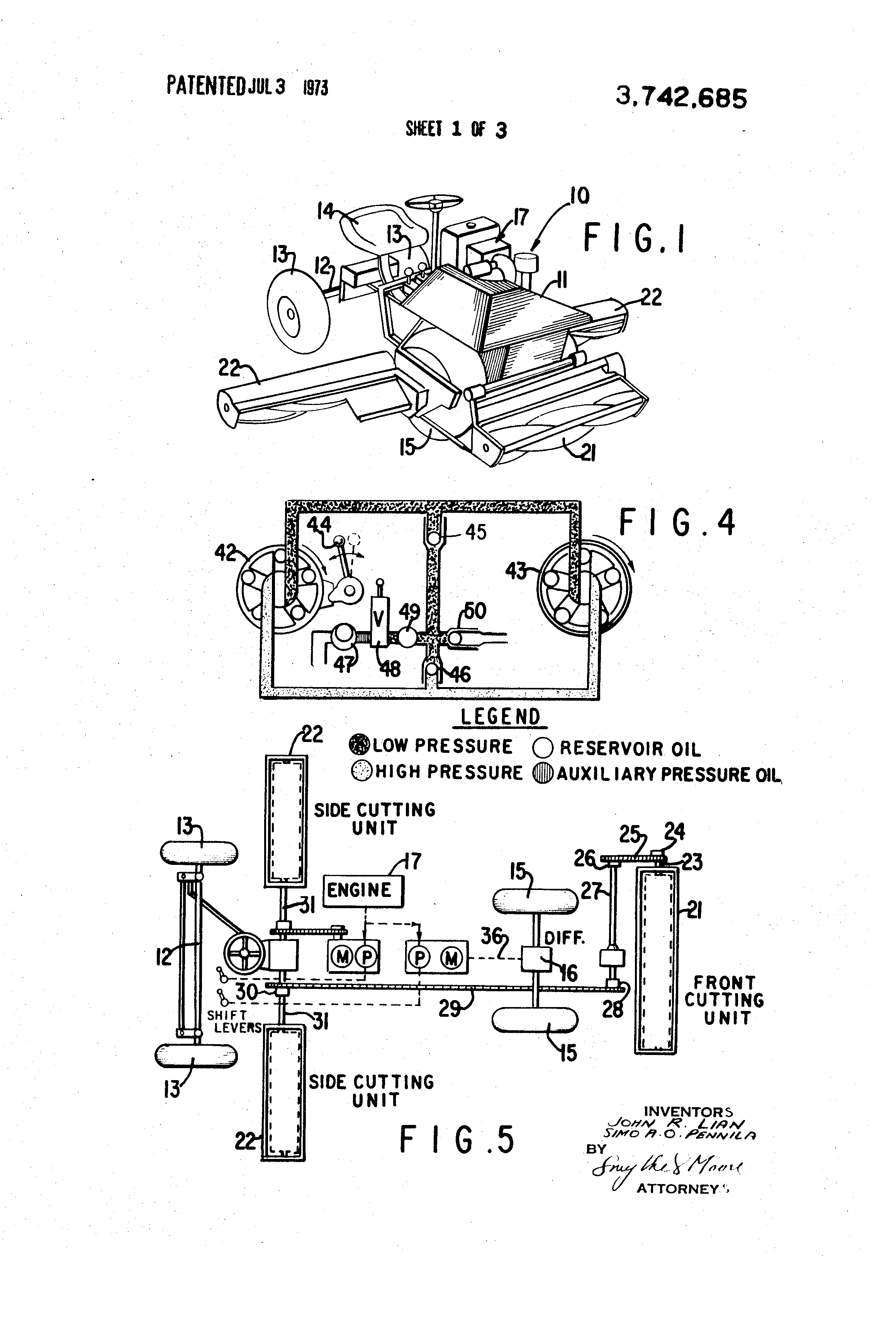 US3742685 1 patent us3742685 lawn mower with hydrostatic drive google patents