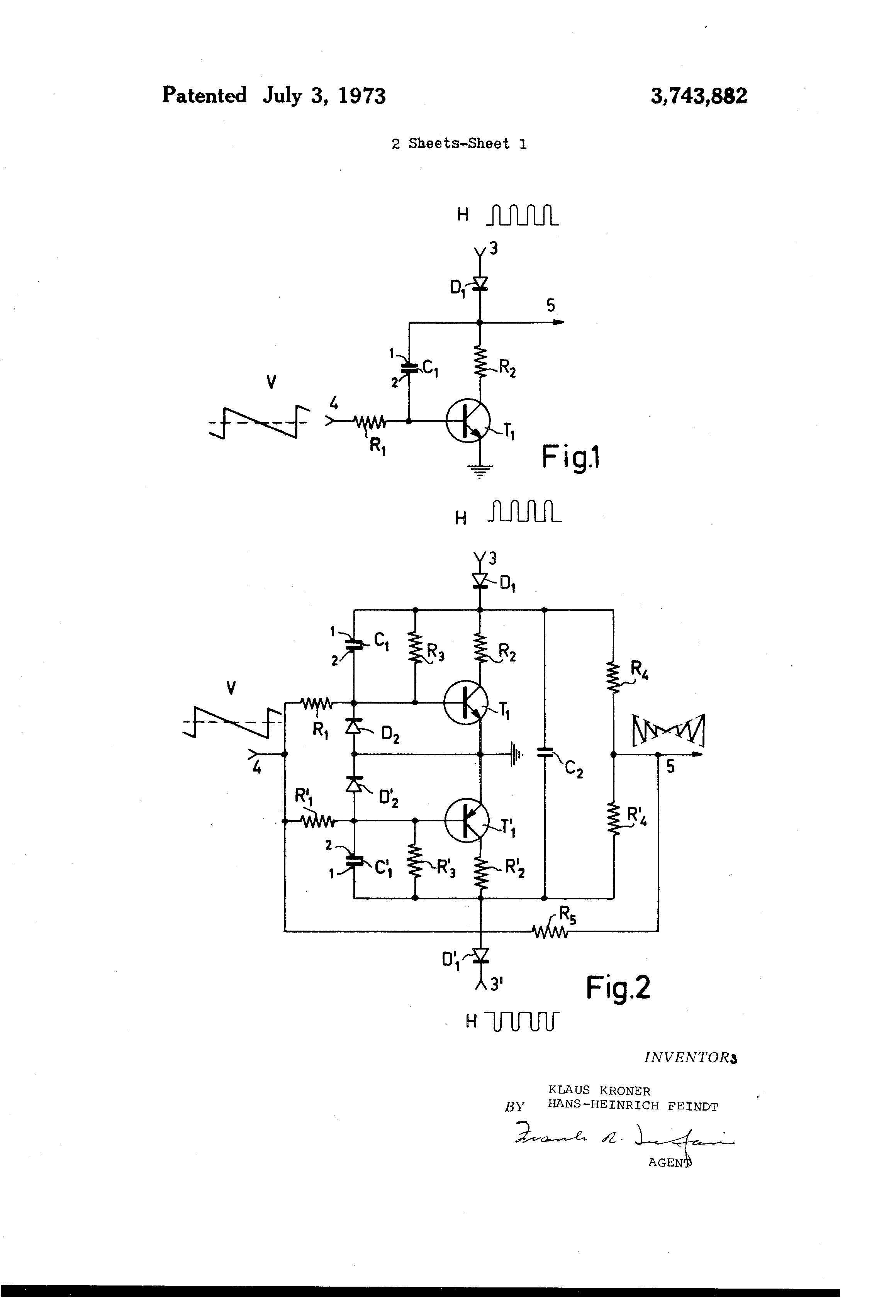 Patent Us3743882 Circuit Arrangement For Generating An Amplitude Transistors Modulation Components Electrical Drawing