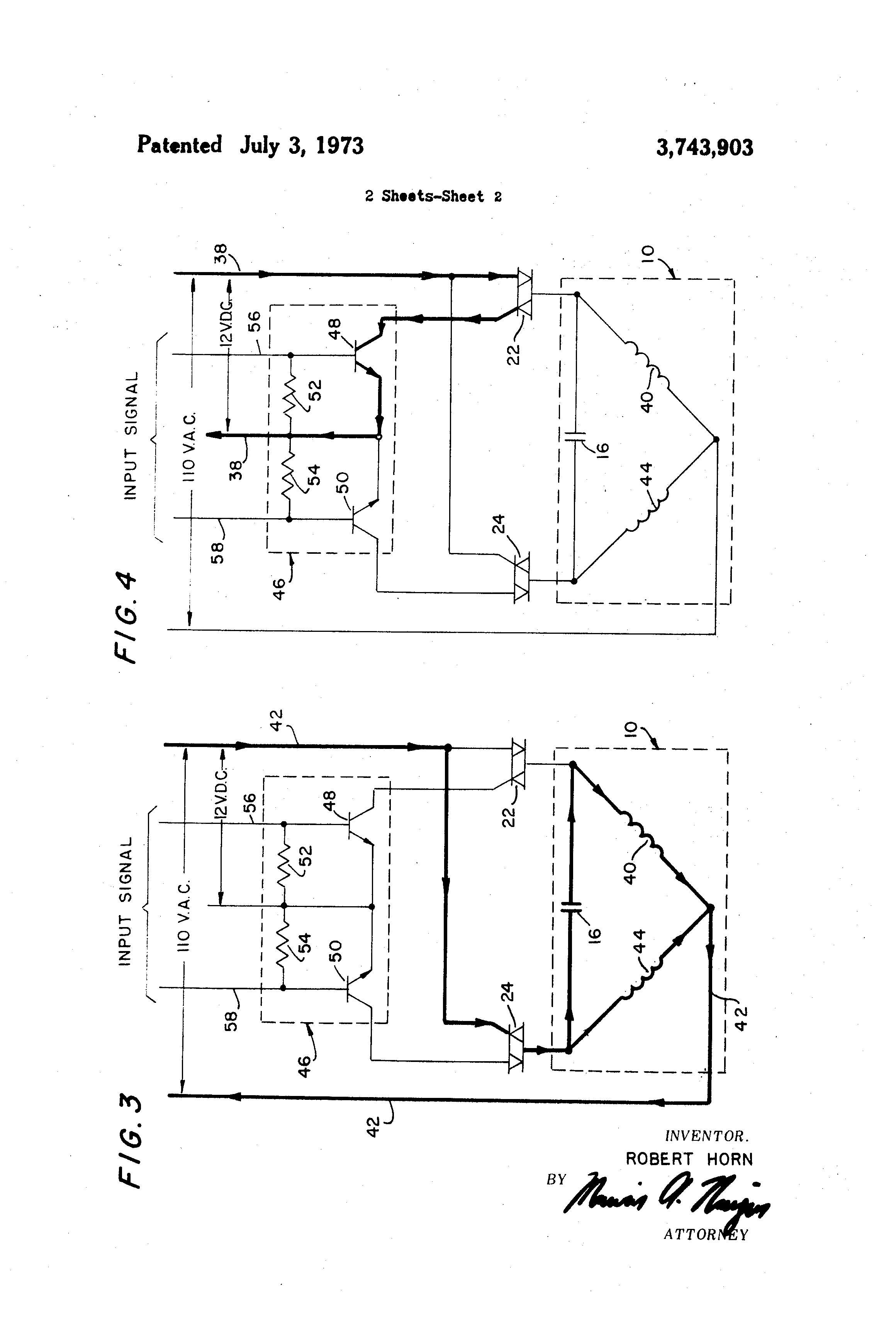 patent us3743903 - single phase motor reversing starter