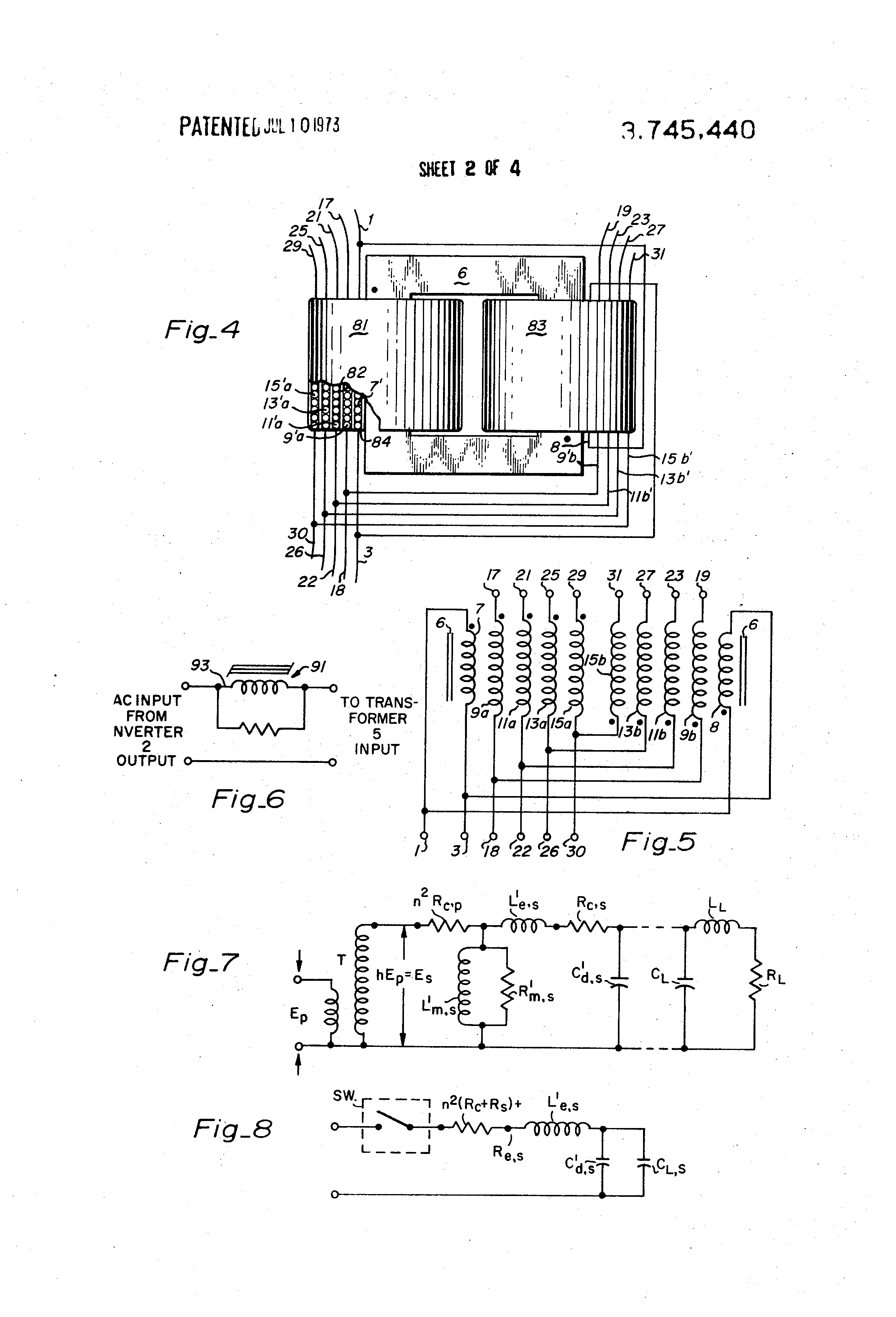 Patent Us3745440 Electrical Inverter Rectifier Circuit And Simple Multivoltage Power Supply Wiring Diagram Schematic Drawing