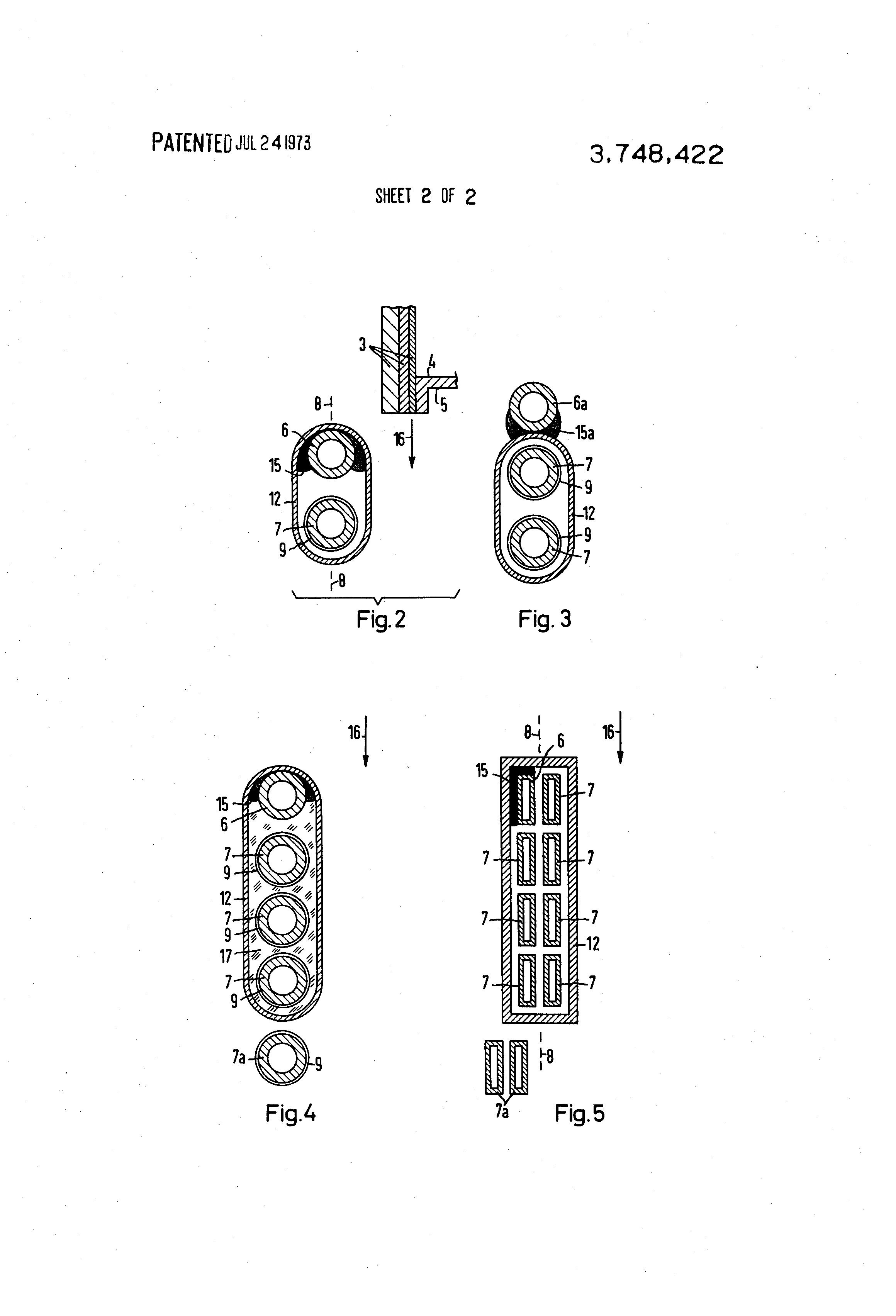 Patent Us3748422 Induction Coil For Heating Of Moving Diagram Drawing