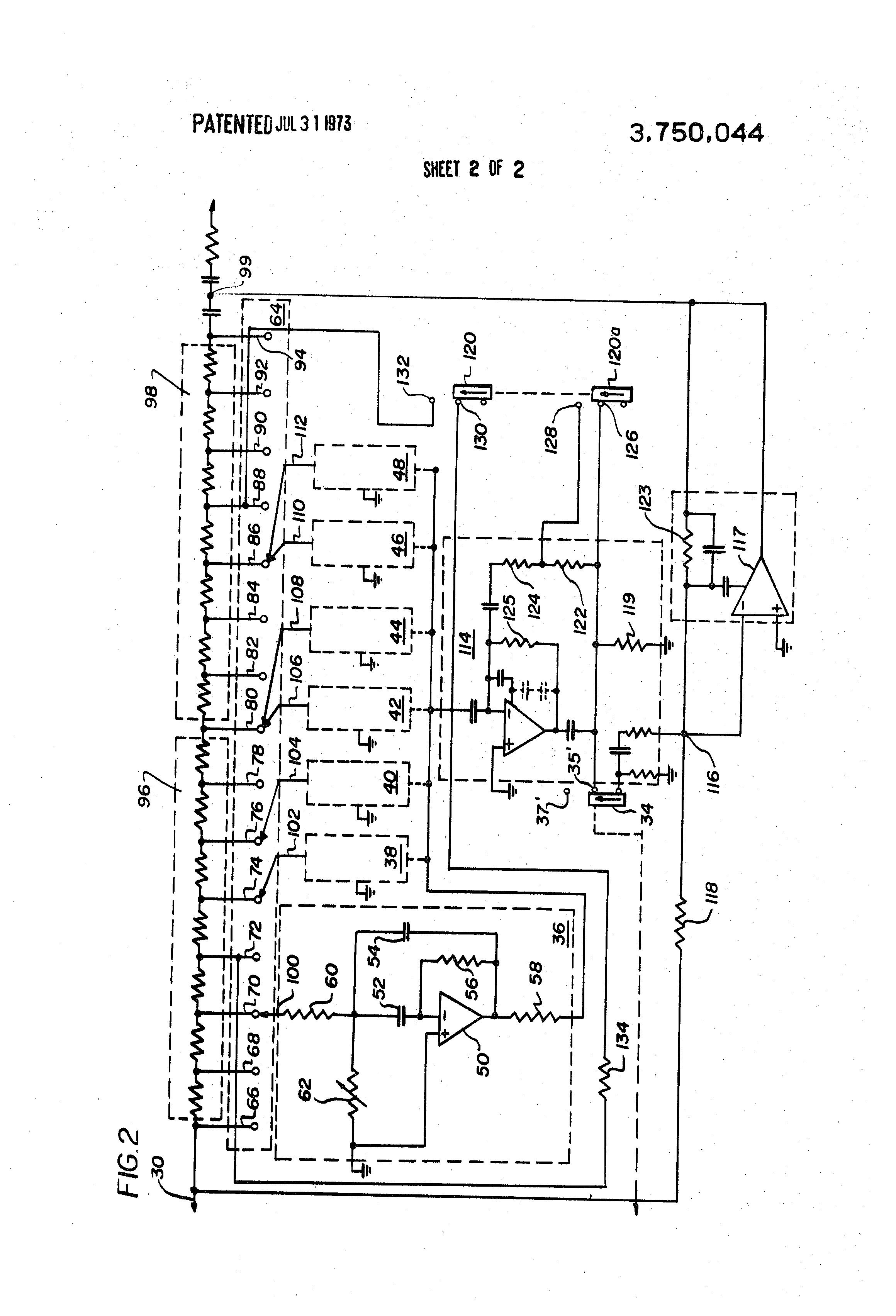 Summary 3 Band Graphic Equalizer Circuit Exchange International Diagram Patent Us3750044 Google