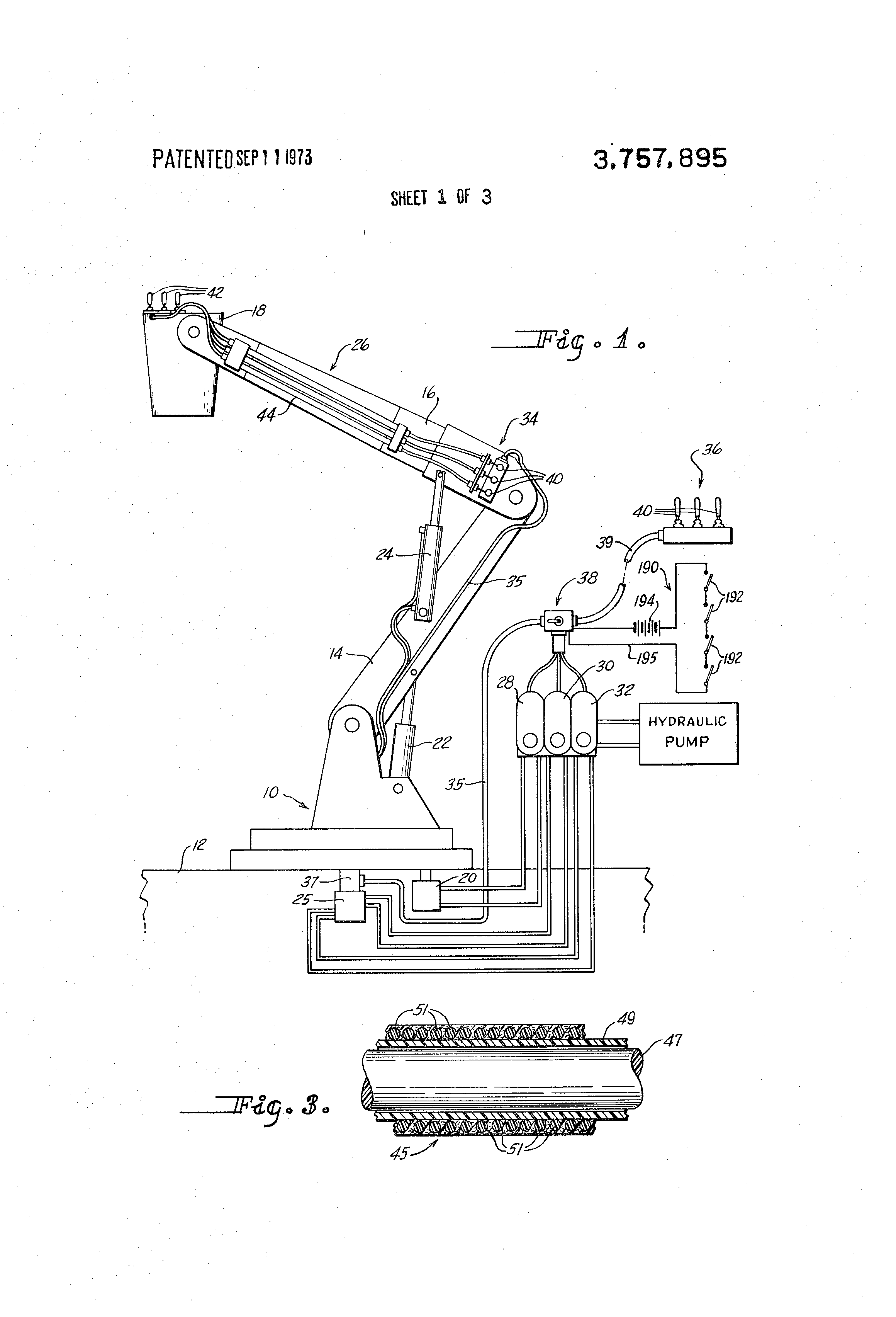 brevetto us3757895 - aerial lift vehicle