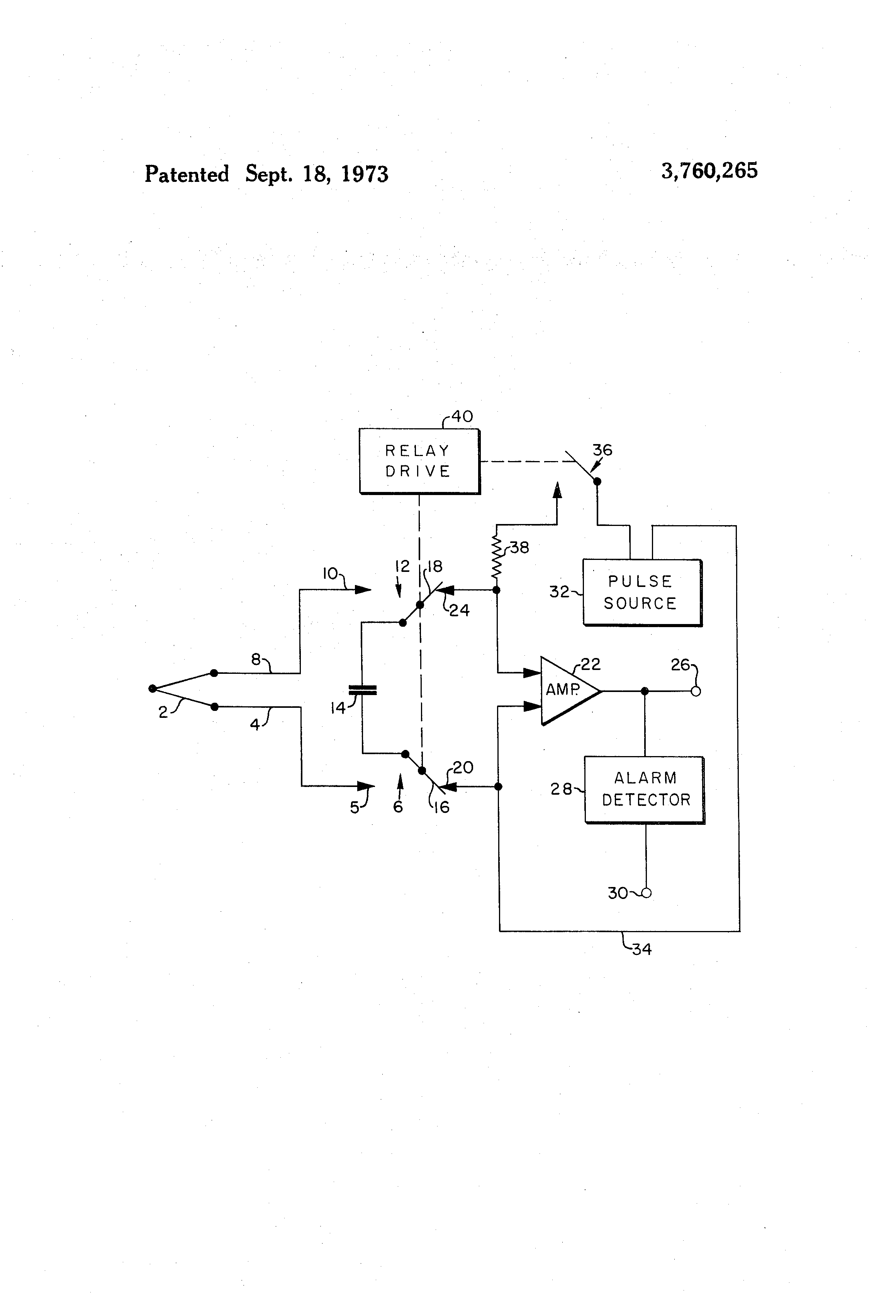 Patent Us3760265 Open Circuit Detection Apparatus For Thermocouple Drawing