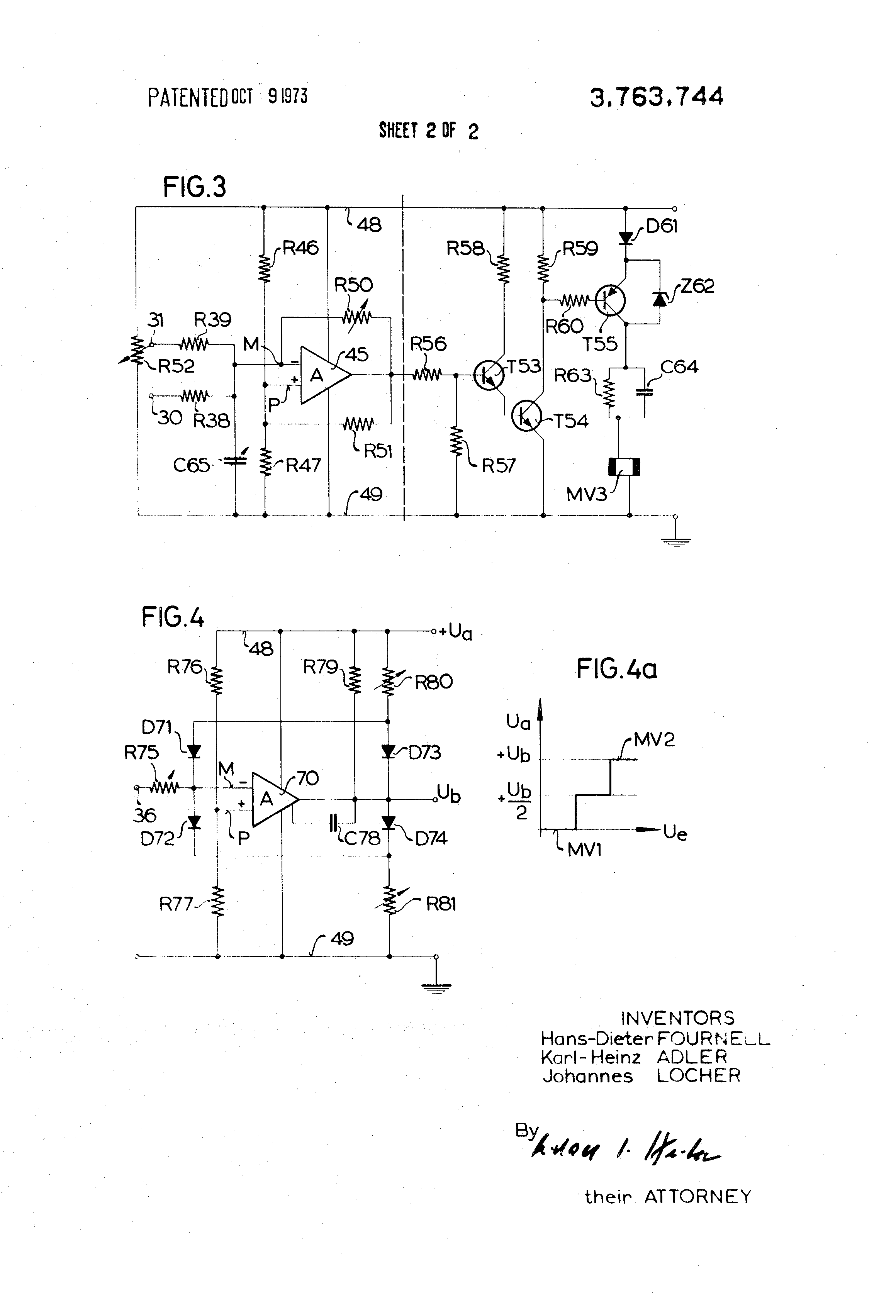 Patent Us3763744 Control Arrangement With A Pulse Length Modulator D61 Wiring Diagram Drawing