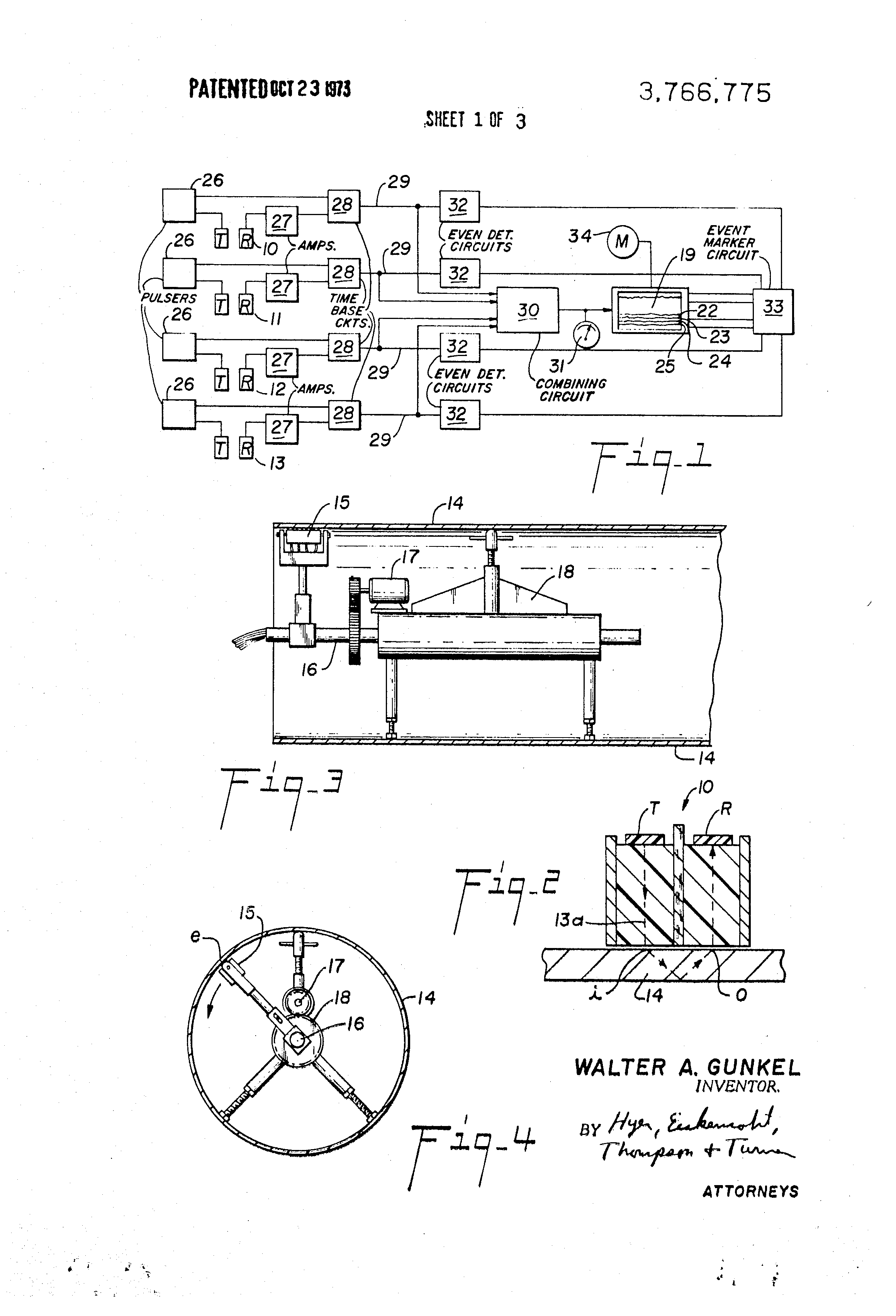 patent us3766775 ultrasonic inspection system patents Mobile Home Sink Diagram patent drawing