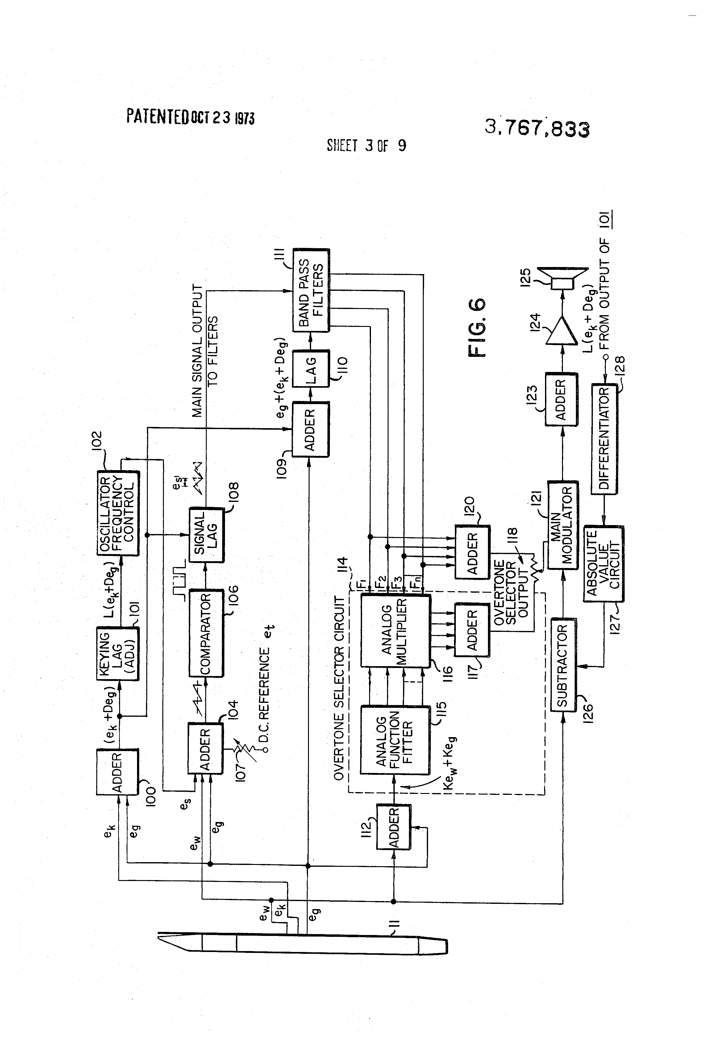 Transistorized Theremin Diagram Wire Data Schema Circuit Patent Us3767833 Electronic Musical Instrument Google Patents Rh Com Wiring Electrical Schematic