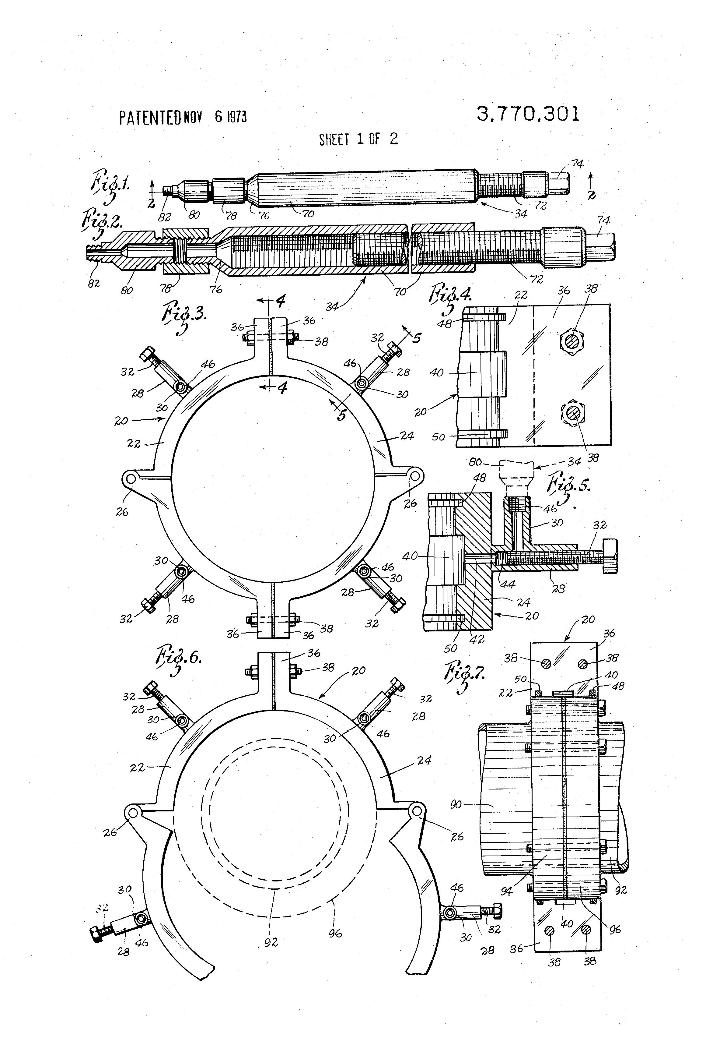 Patent us repair flange clamp google patenten