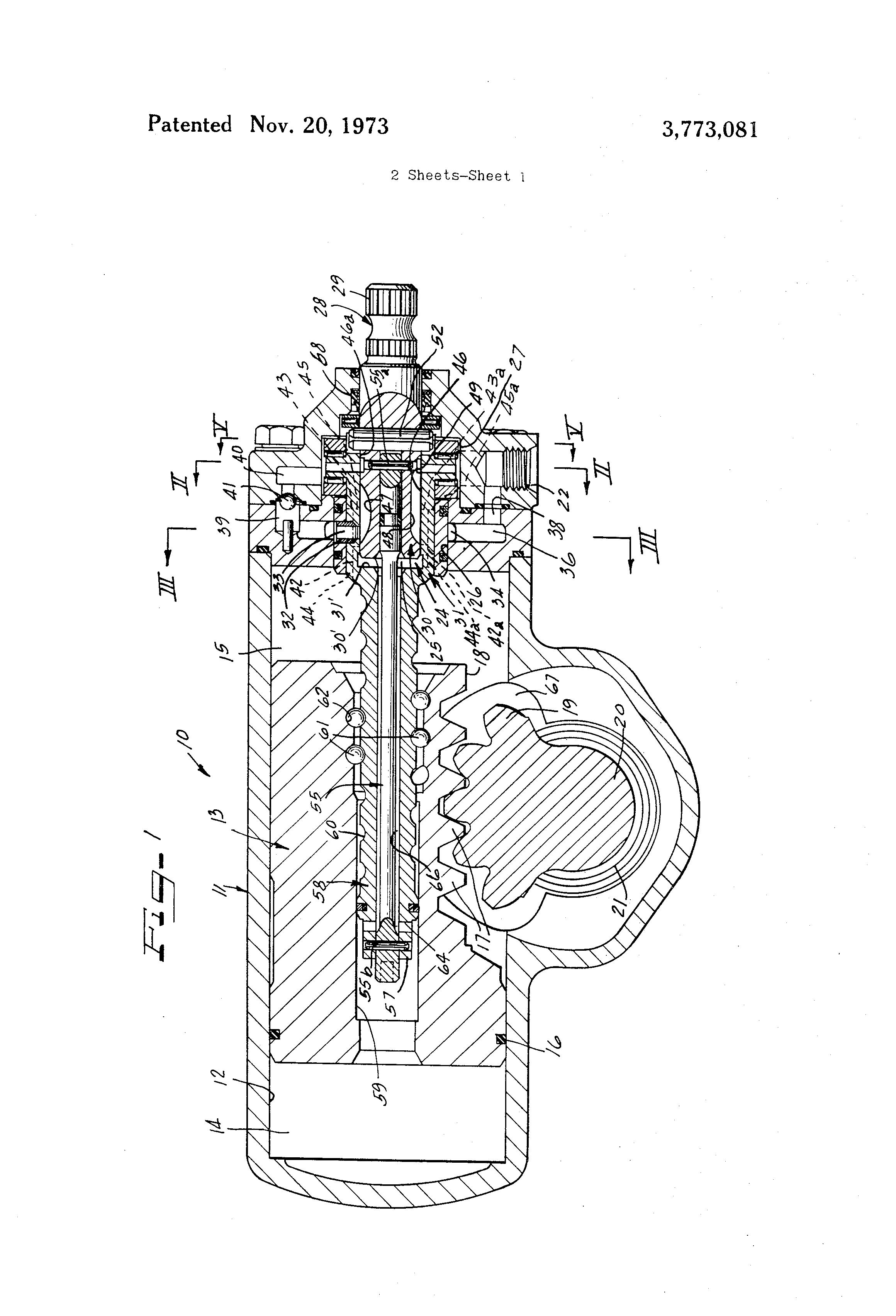 US3773081 1 brevet us3773081 power steering gear assembly google brevets