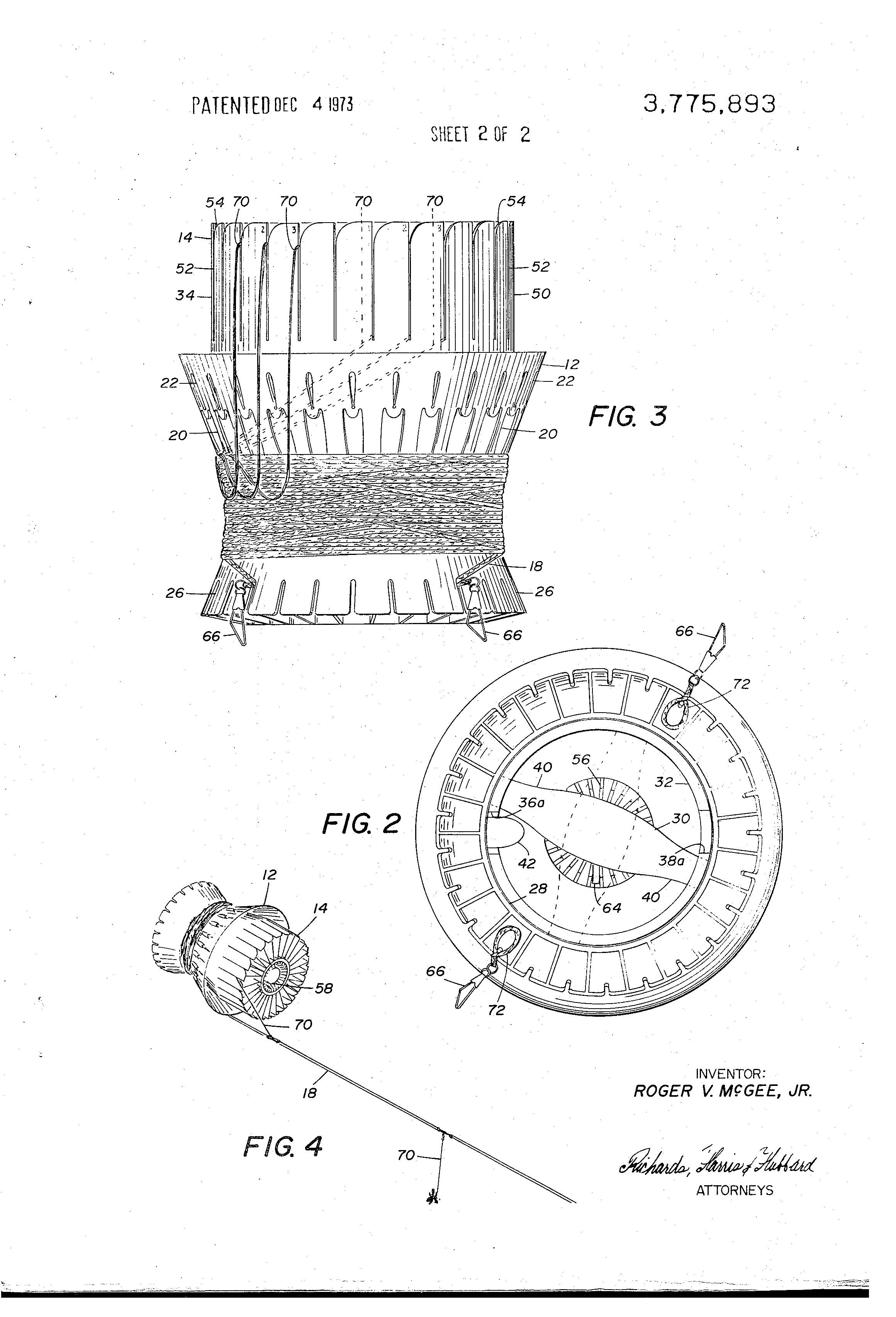 Patent Us3775893 Trotline Dispenser Google Patents