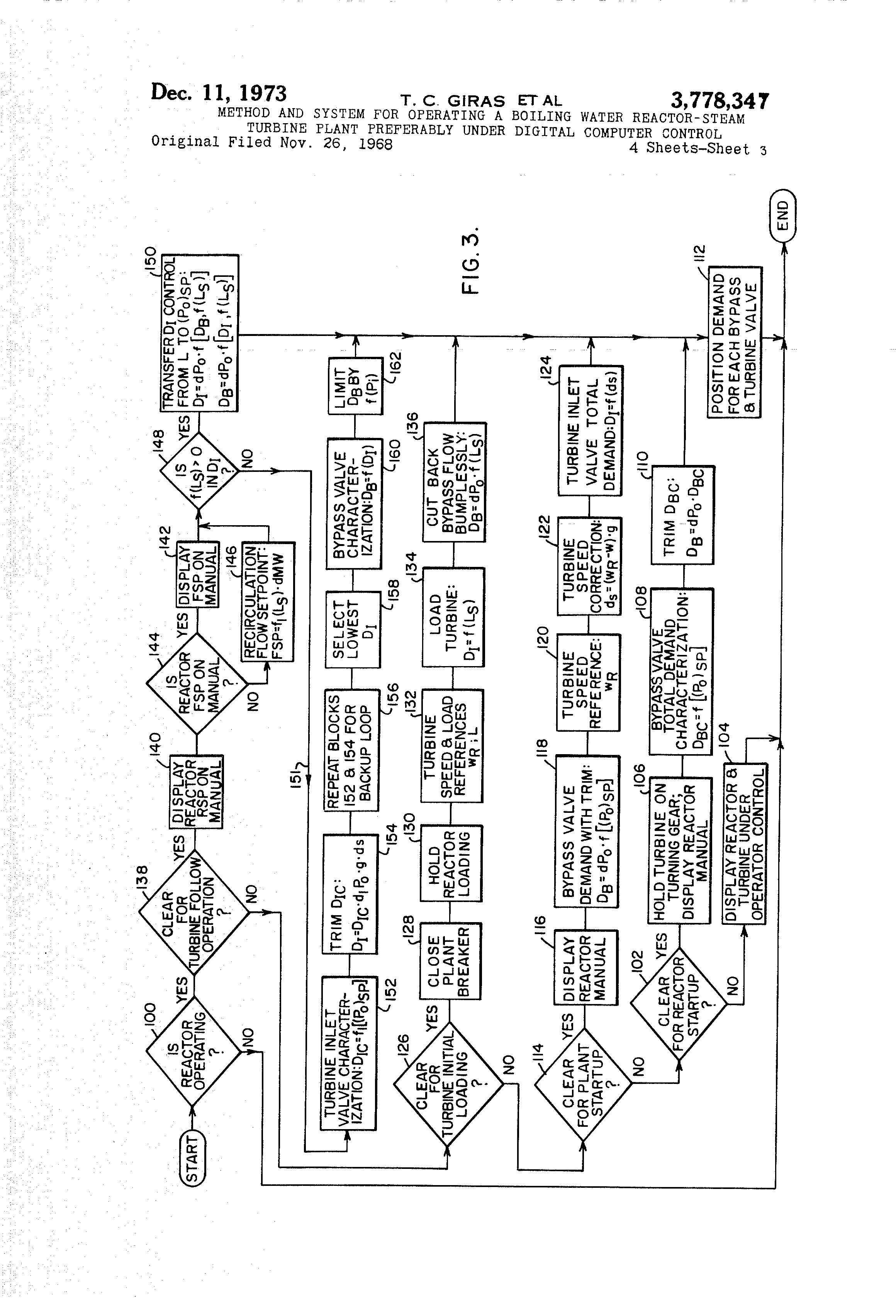 Patent Us3778347 Method And System For Operating A Boiling Water Siemen Actuators Valve Wiring Diagram 289 Drawing