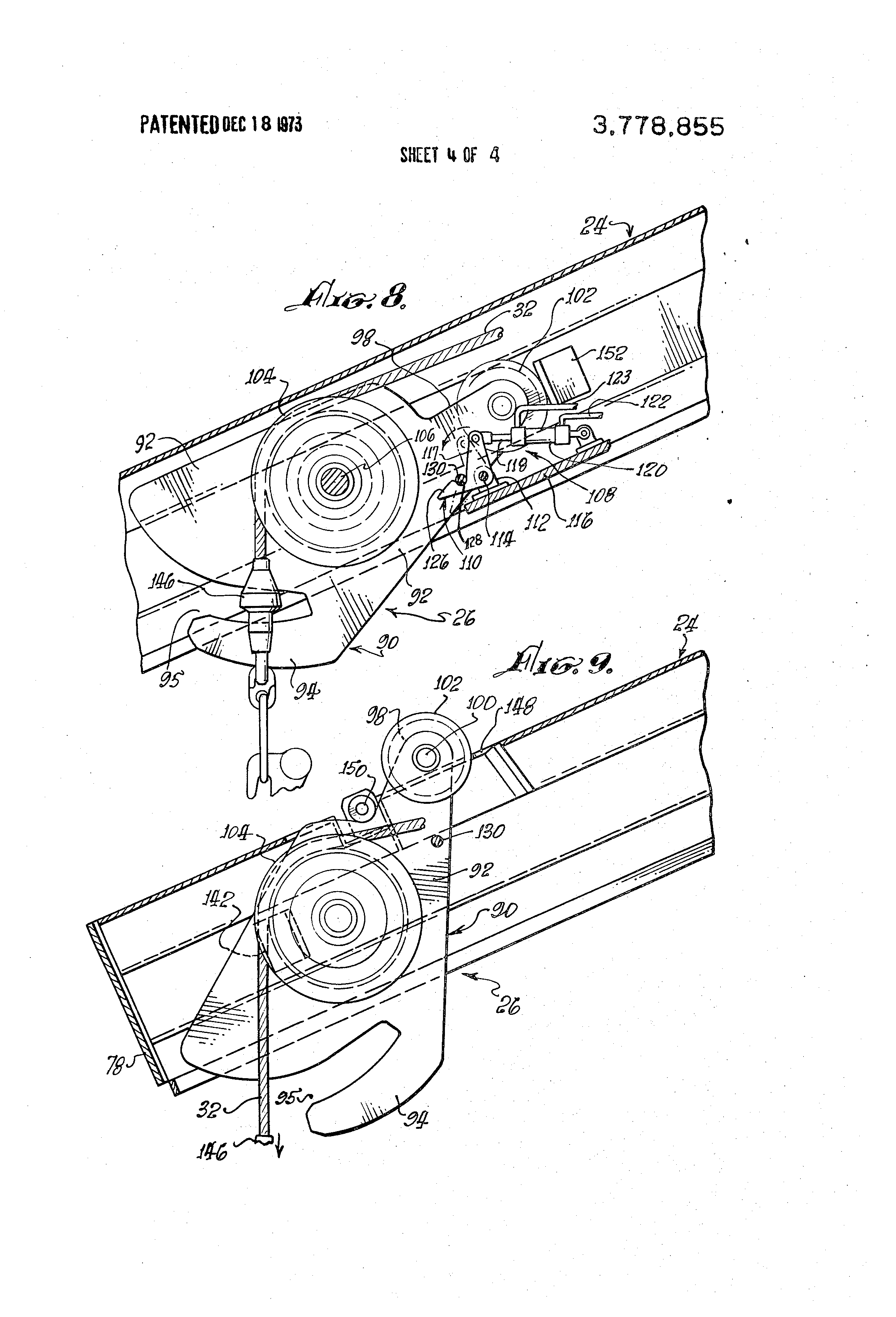 patent us3778855 - telescoping gravity davit