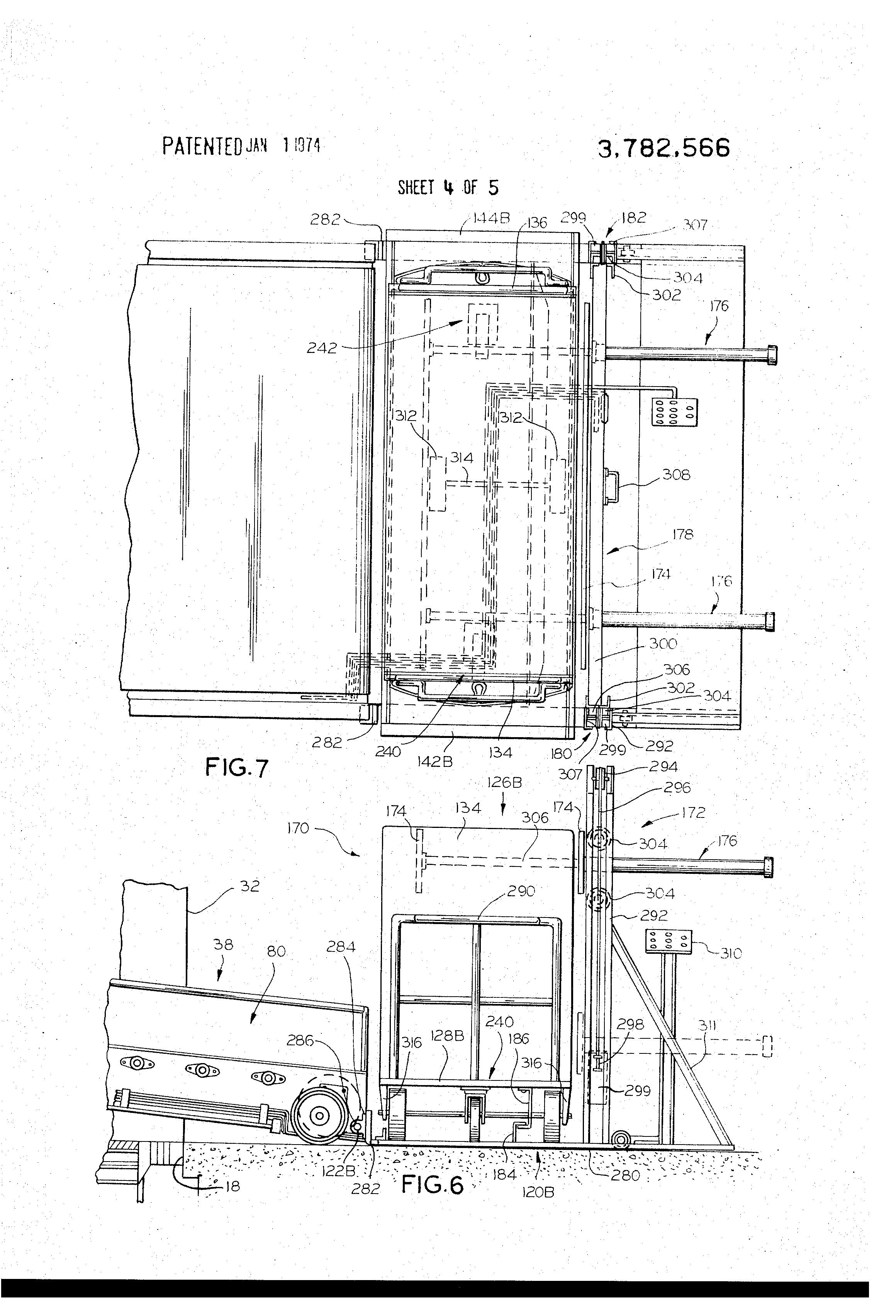 Patent Us3782566 Nutting Truck Unloading Arrangement For Mail Bag. Patent Drawing. Wiring. I574 Tractor Wiring Schematics At Scoala.co