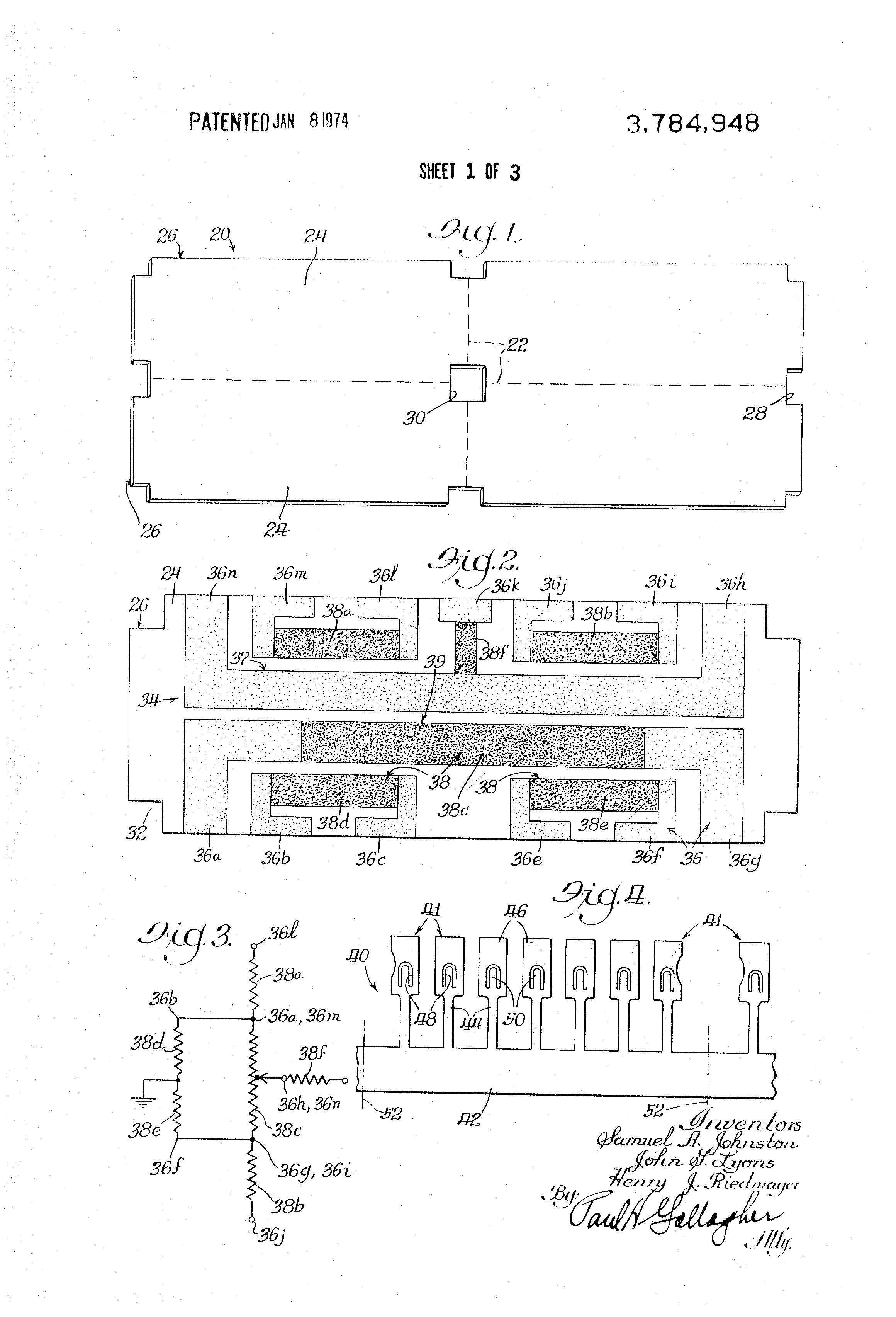 Patent Us3784948 Integrated Circuit Package Of Unified Structure Variable Resistor Diagram With Google Patents