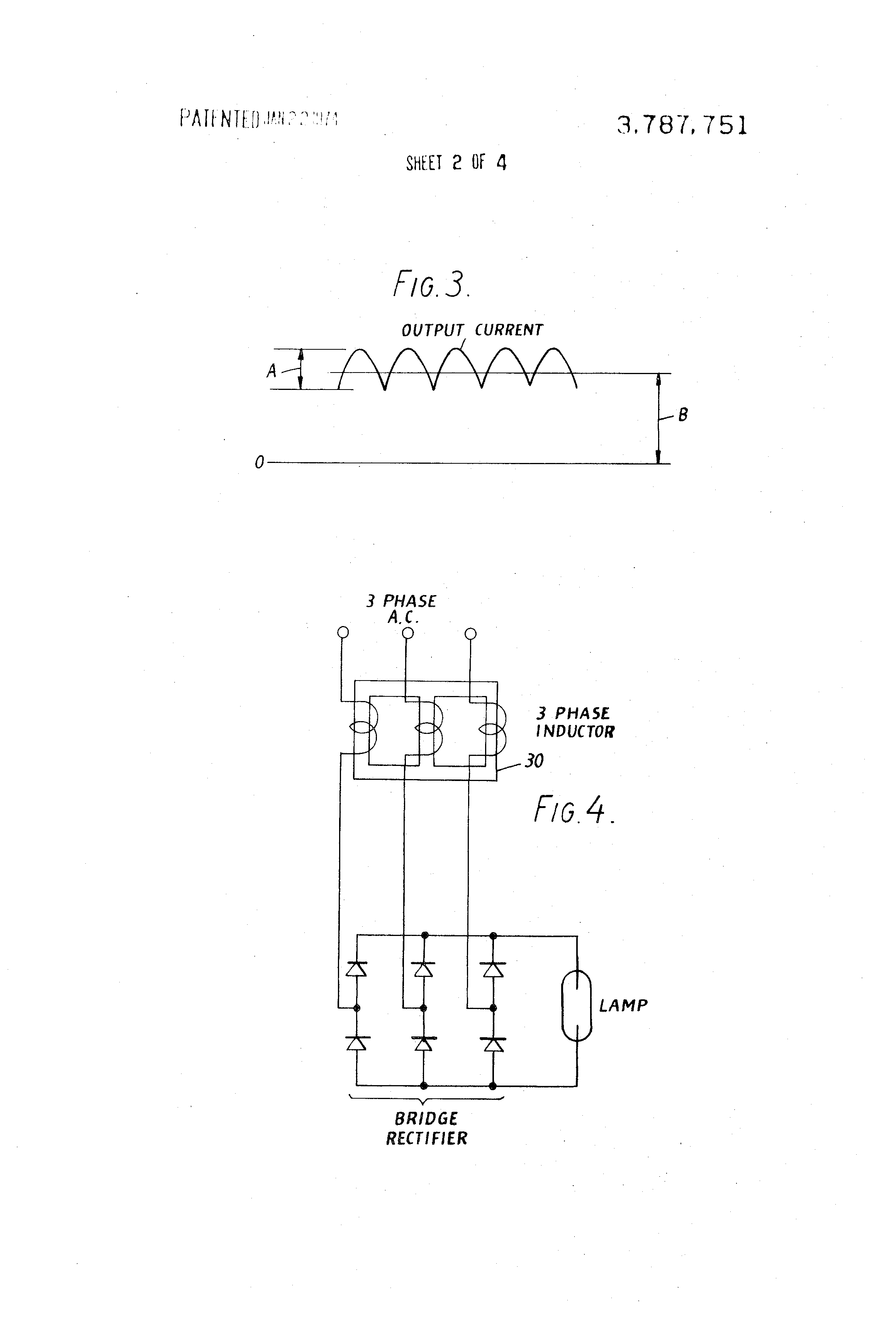Patent Us3787751 Ballast Circuits For Discharge Lamps Google Patents Basic Circuit Other Three Phase Bridge Rectifier Drawing