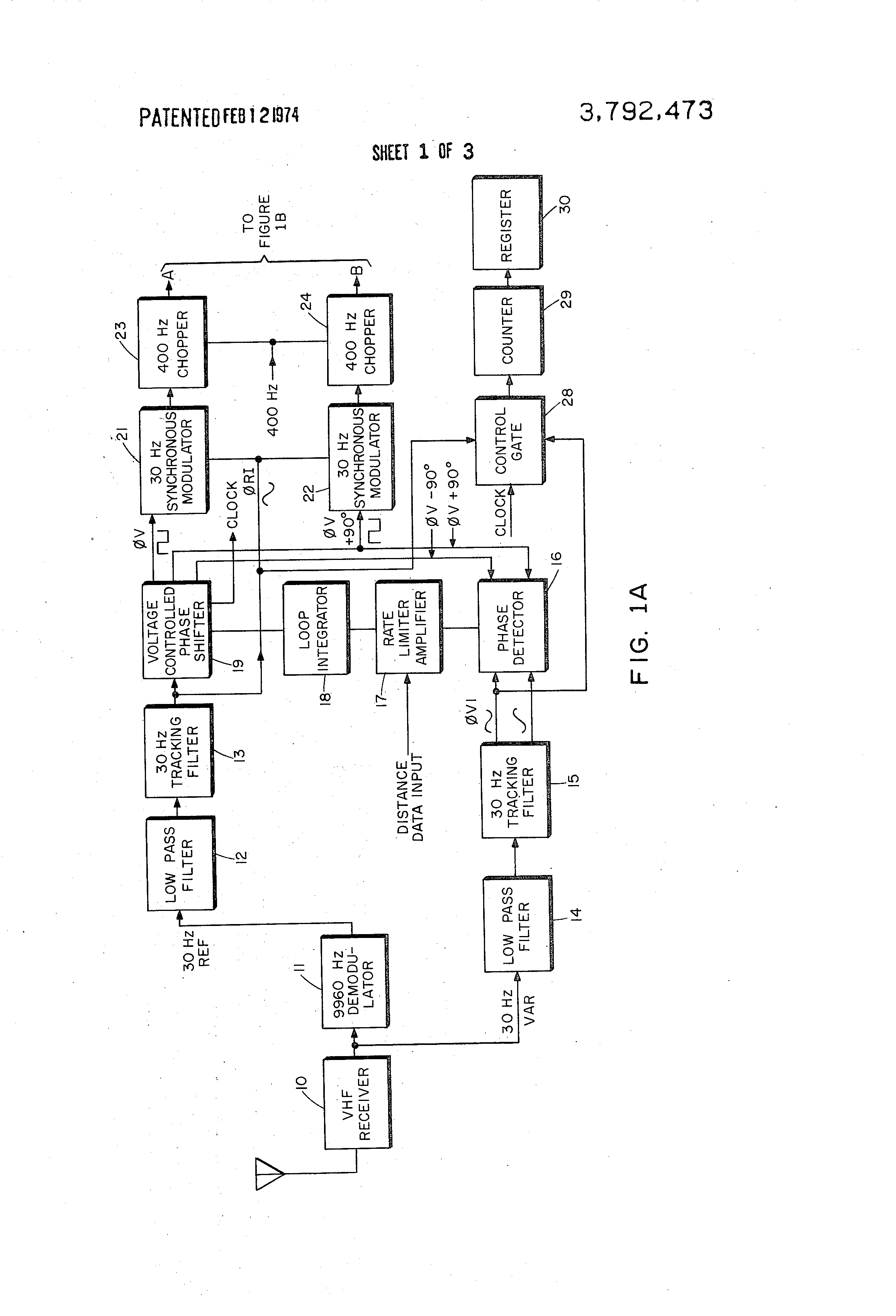 Patent Us3792473 Vor Receiver With Adaptive Filters And Phase Low Pass Filter Schematic Diagram Drawing