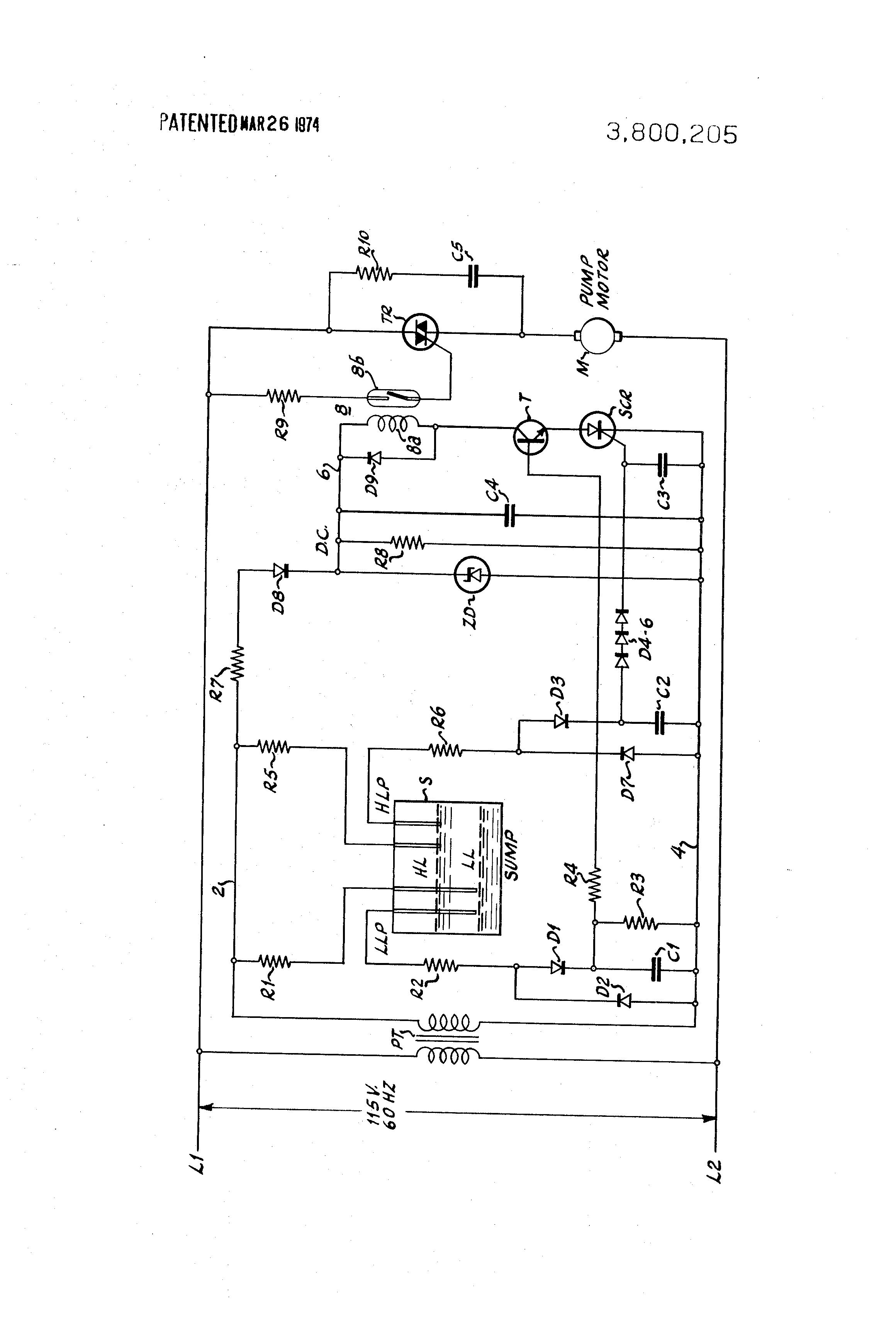 Patent Us3800205 Sump Pump Control System Google Patents