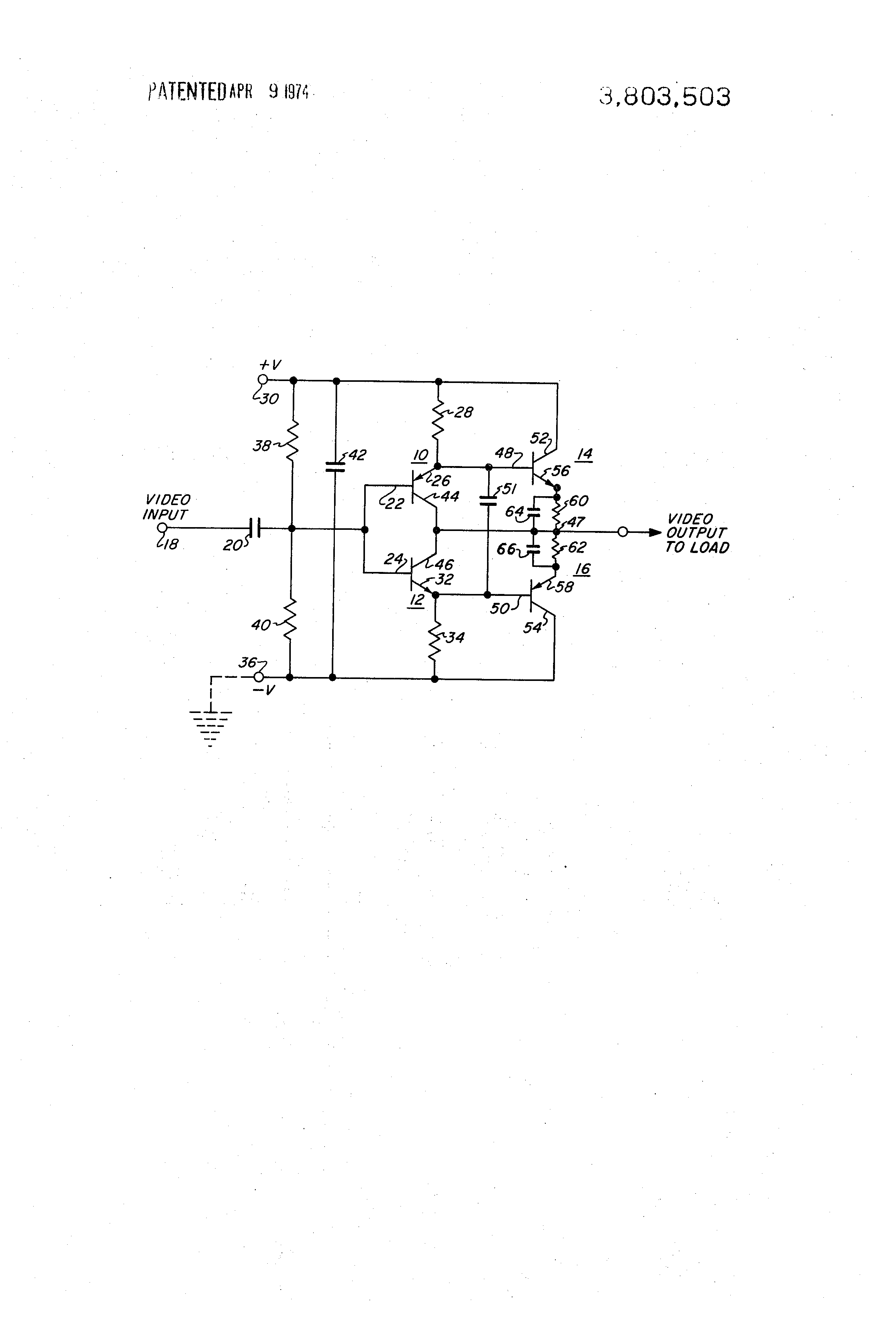 Patent Us3803503 Neutralized Driver Amplifier Circuit Google Patents An Ac Coupled Emitter Follower Common Collector Showing Drawing