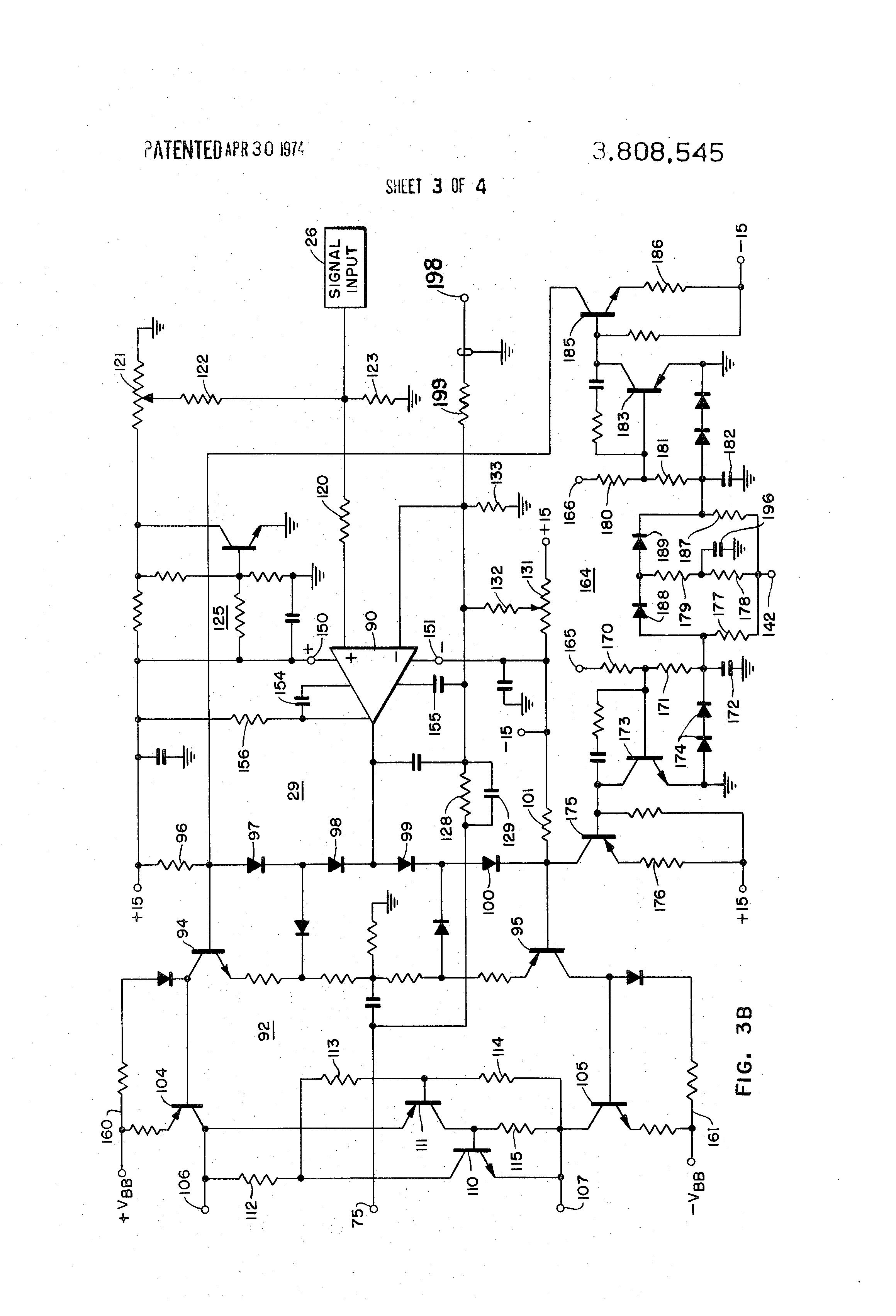 patent us3808545 - high power bridge audio amplifier