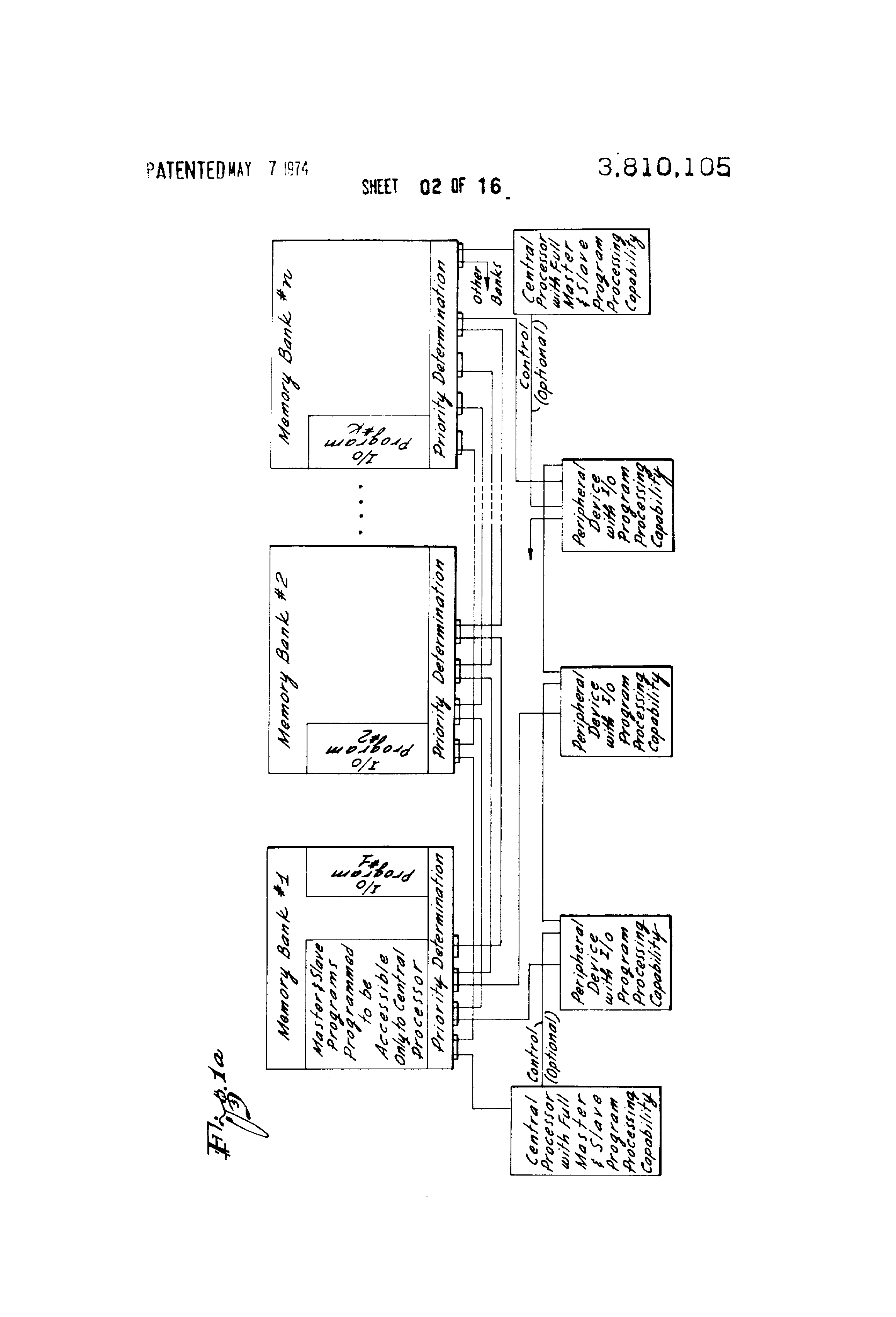 patent us3810105 - computer input-output system