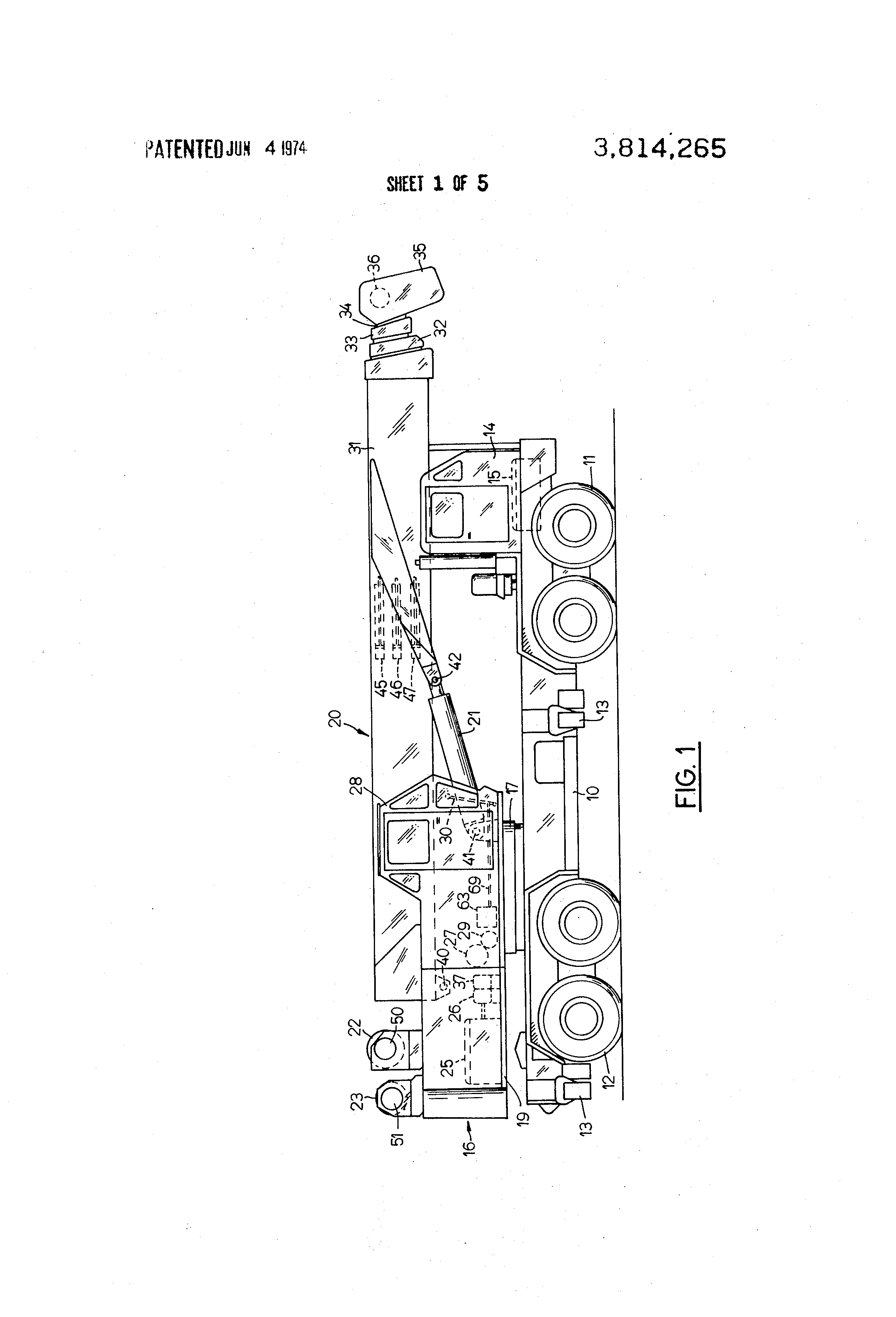 Patent Us3814265 Hydraulic Crane Control System Having Means For Shut Off Wiring Diagram Drawing