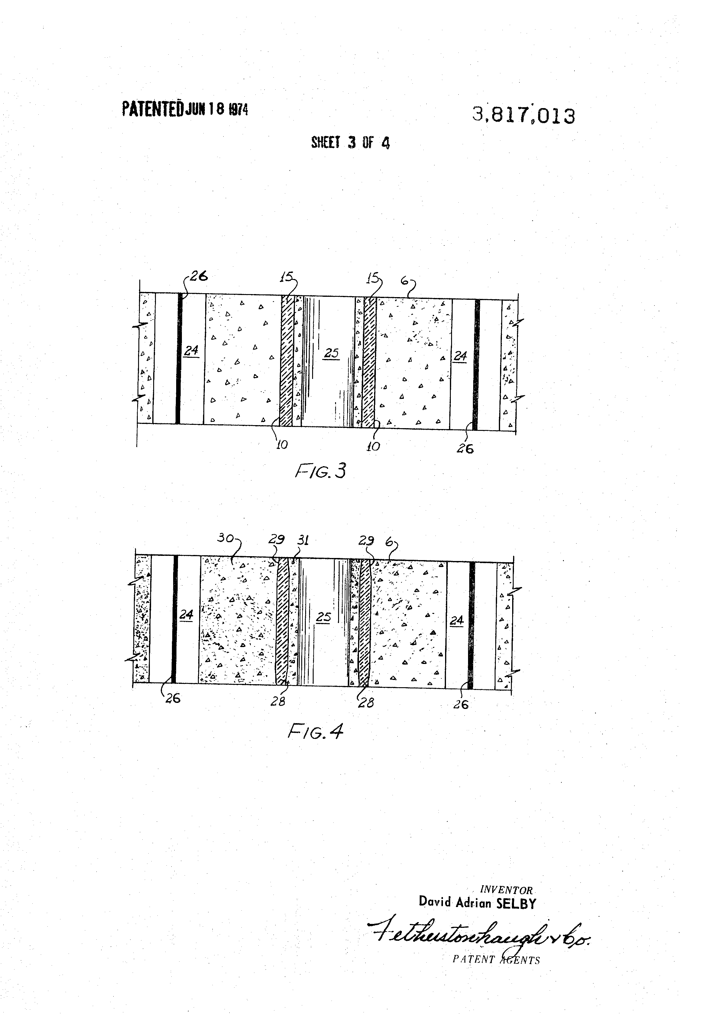 Patent us3817013 insulated concrete block google patenten for Insulated concrete masonry units