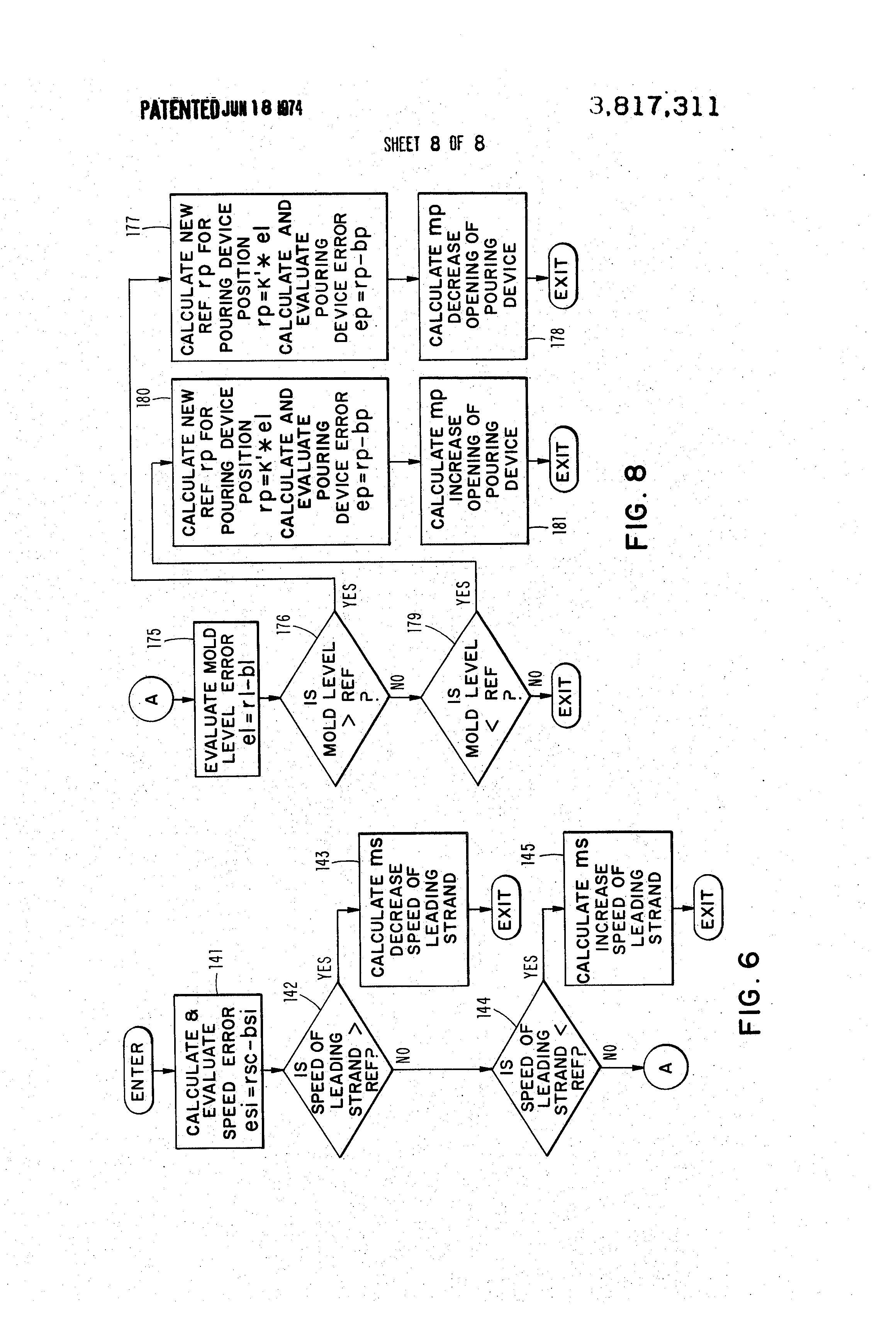 patent us3817311 method and apparatus for controlling a continuous  patent drawing