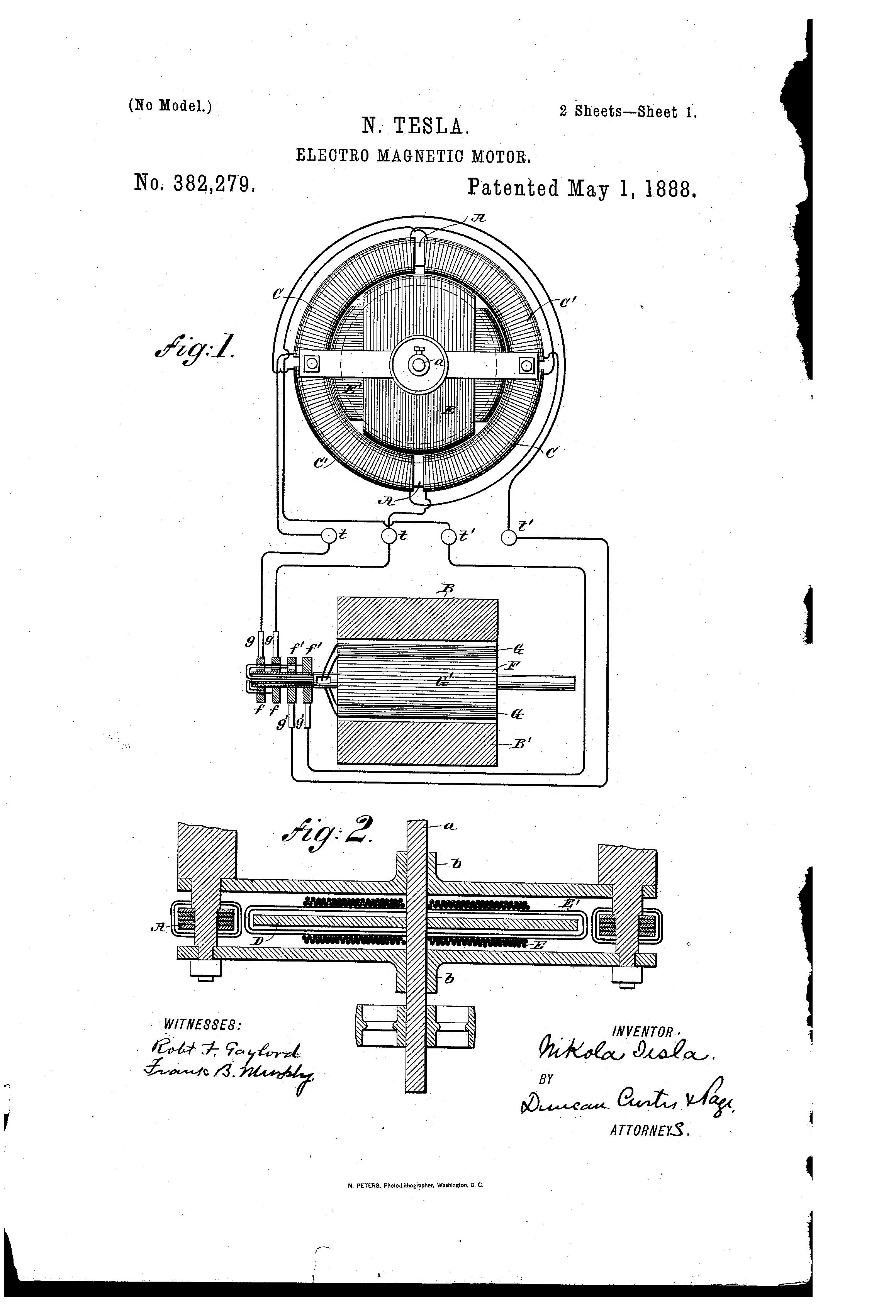 patent us382279 - nikola tesla