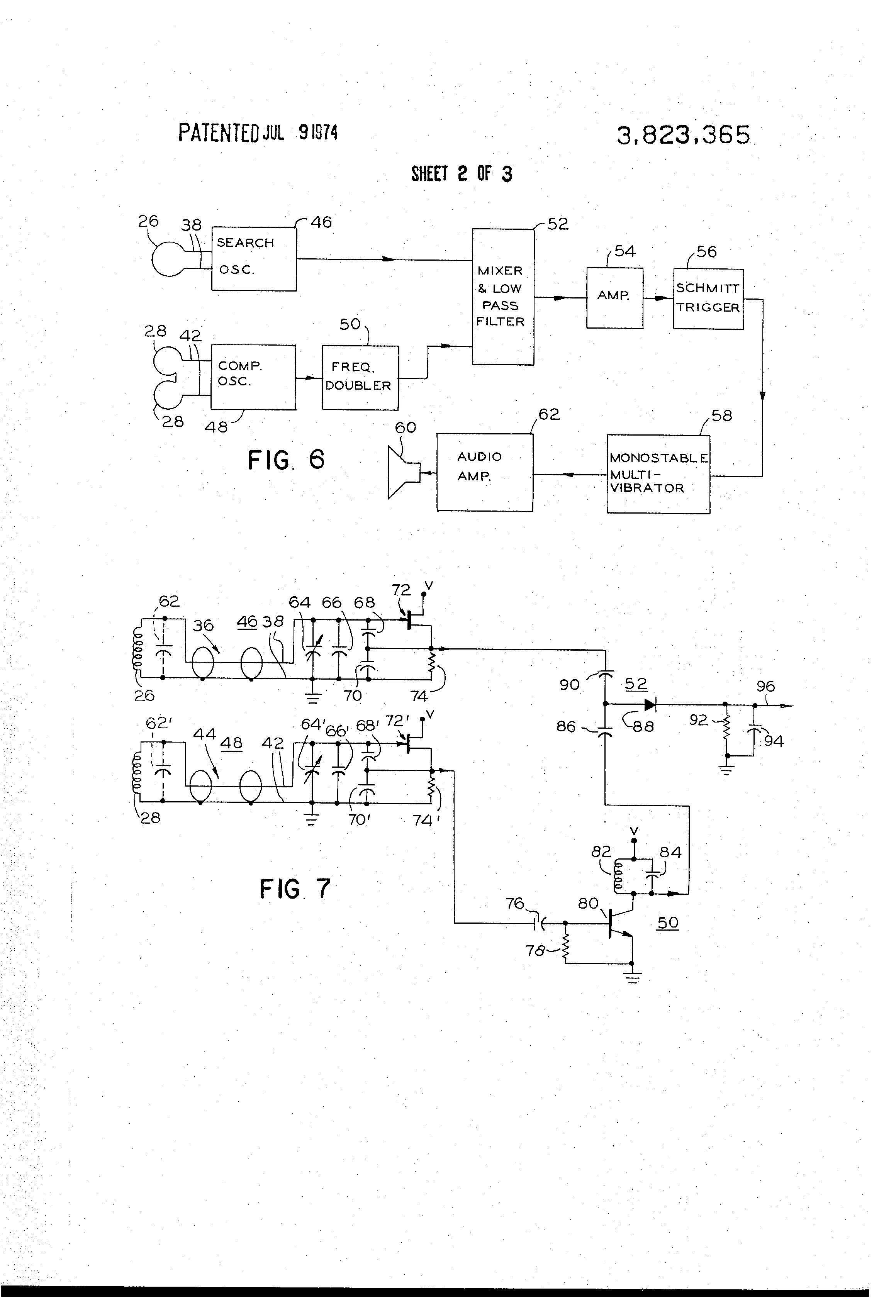 Patent Us3823365 Metal Detecting Apparatus Having Improved Ground Bfo Detectors Circuit Diagram Electronic Circuits Drawing
