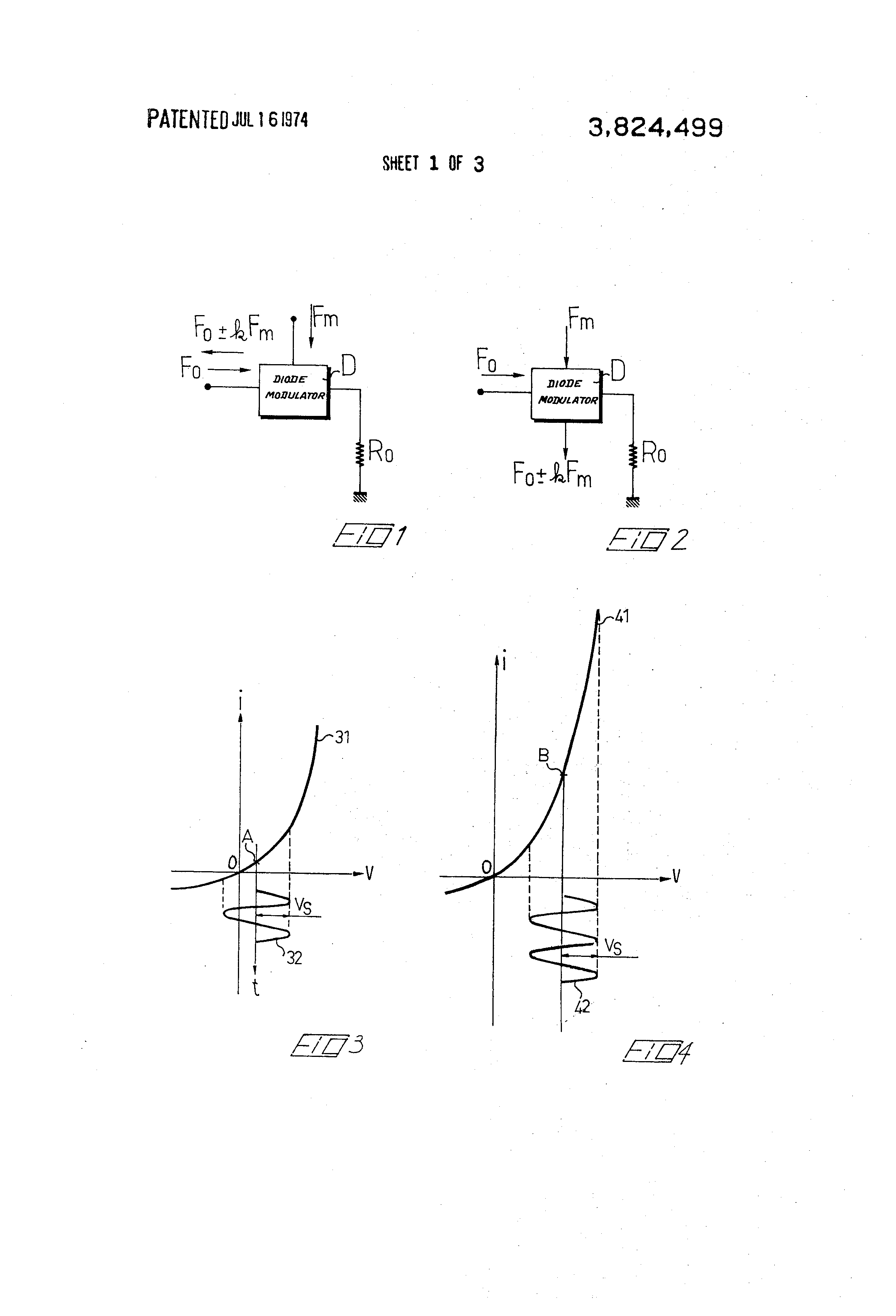 Patent Us3824499 Diode Phase Modulator Google Patents Frequency Modulation Fm Waveform Generator Circuit Basiccircuit Drawing