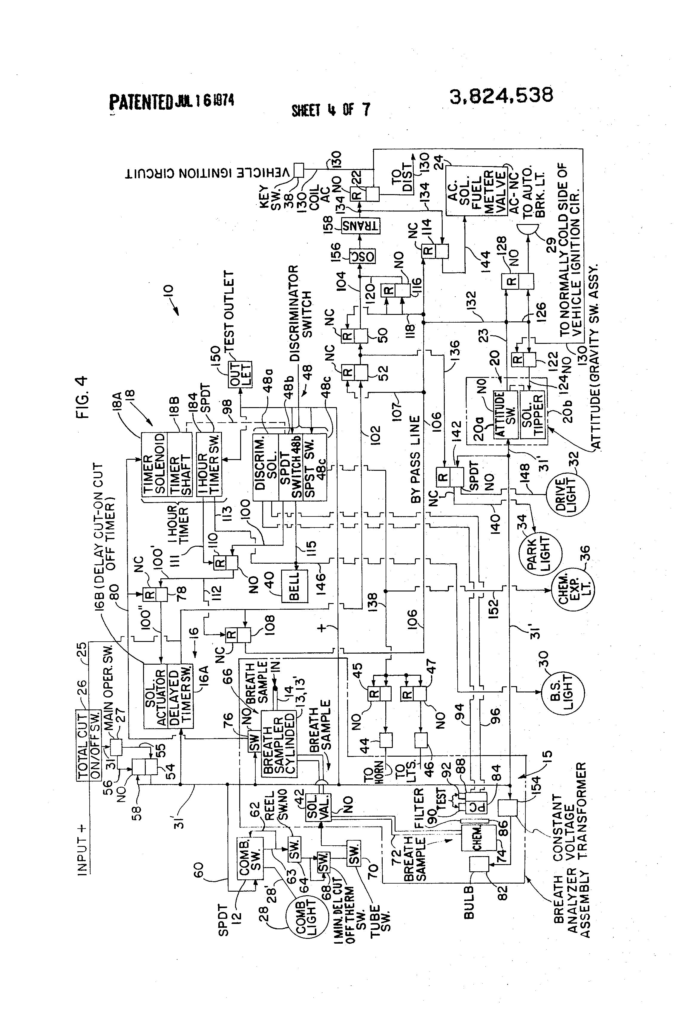 Patent Us3824538 Motor Vehicle Operator Monitoring