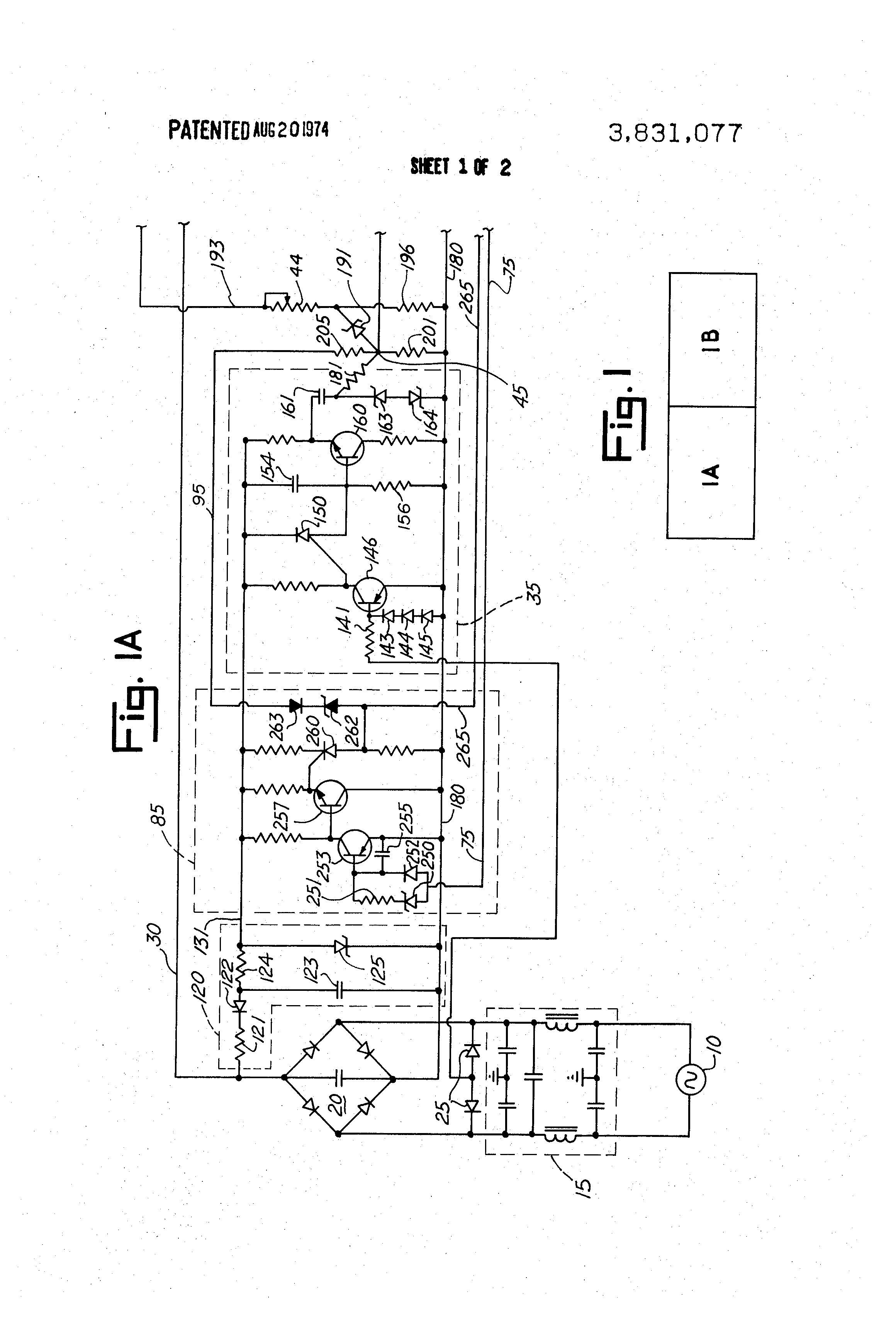 Patent Us3831077 Regulated Controlled Rectifier Power Supply Four Components A Silicon Or Scr Zener Diode Drawing