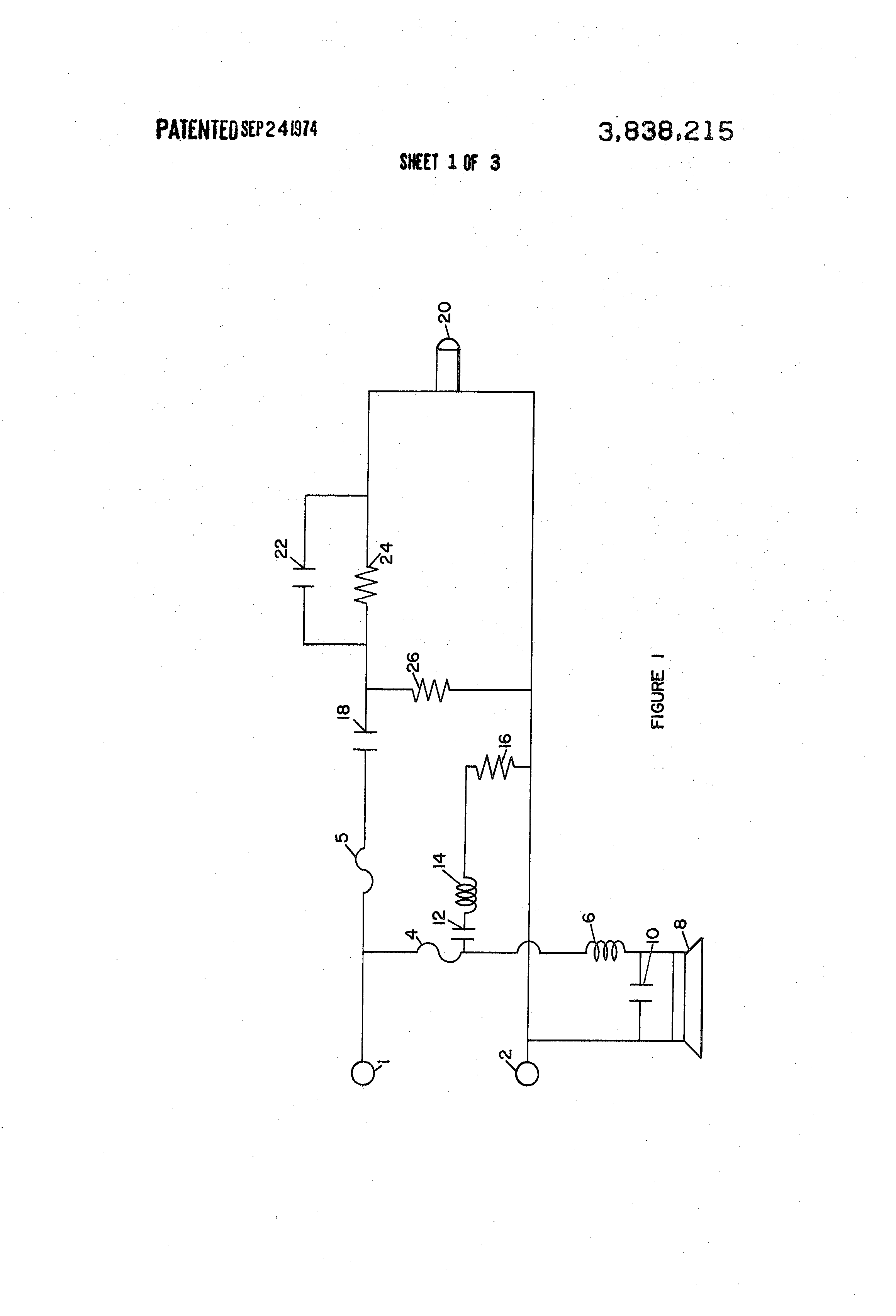 Patent us3838215 speakers and crossover circuit google patents patent drawing pooptronica