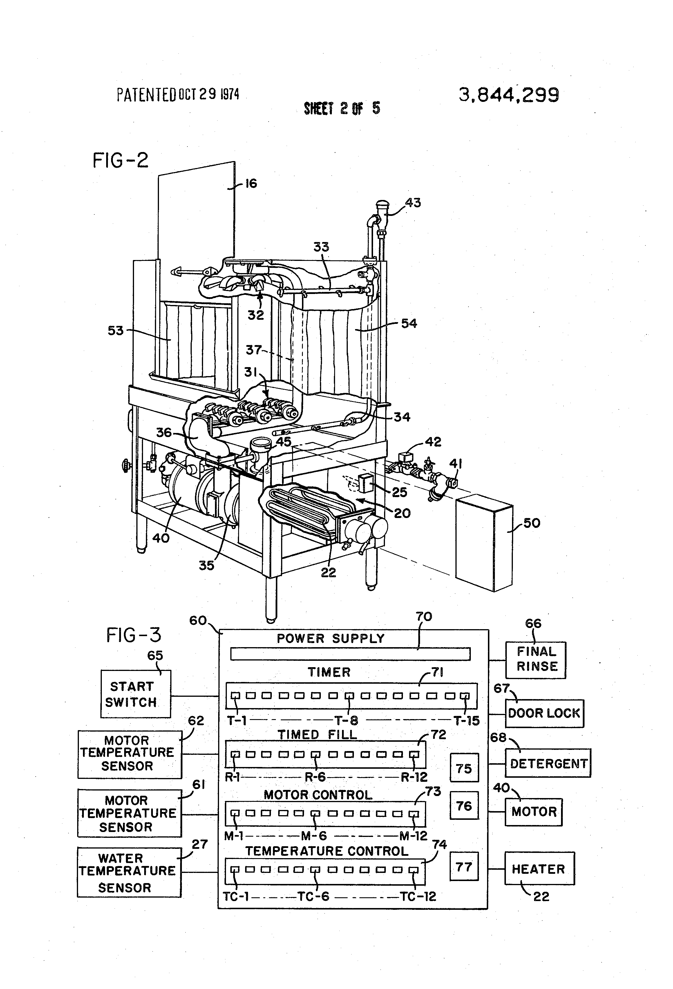 patent us3844299 - control circuit for dishwasher