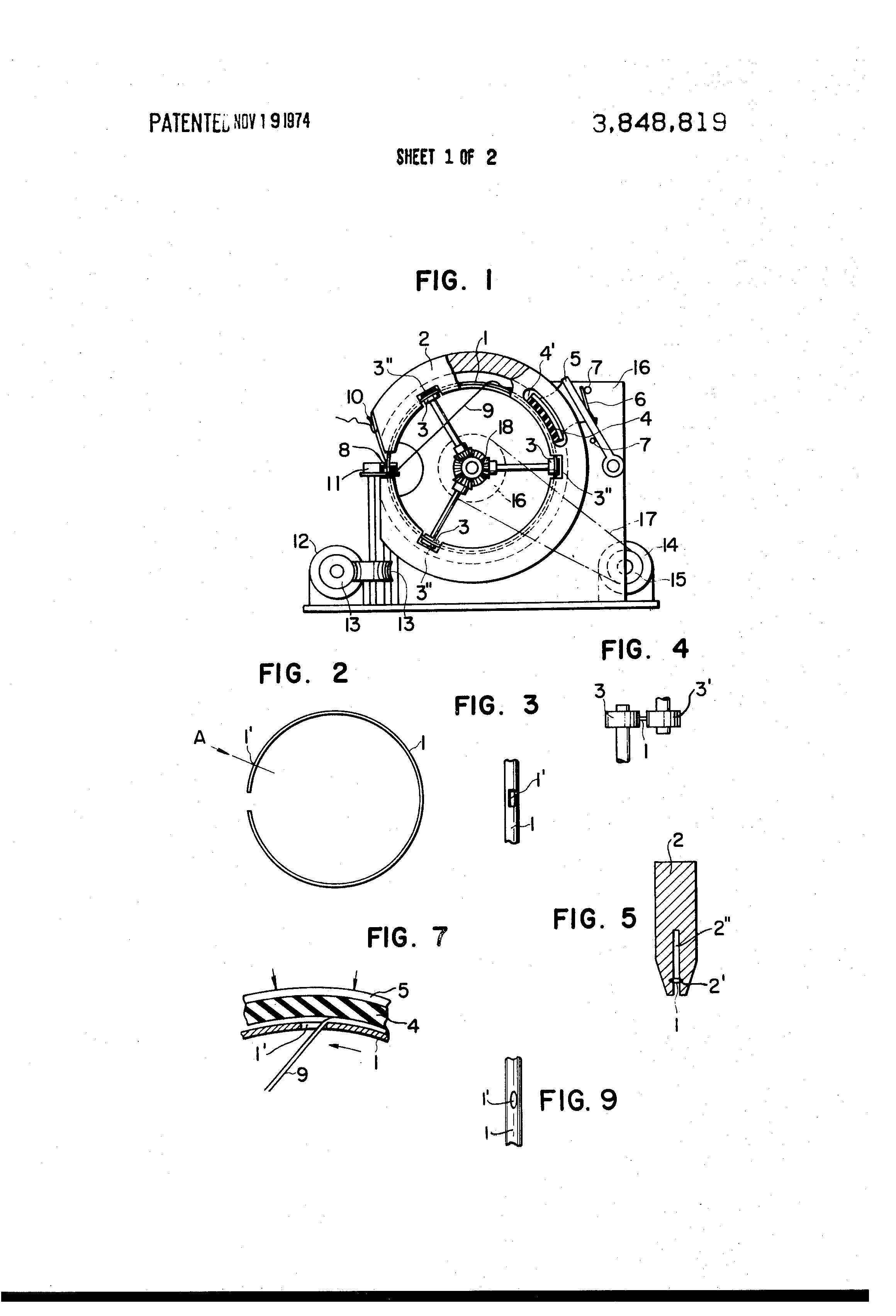 patent us3848819 - toroidal coil winding machine