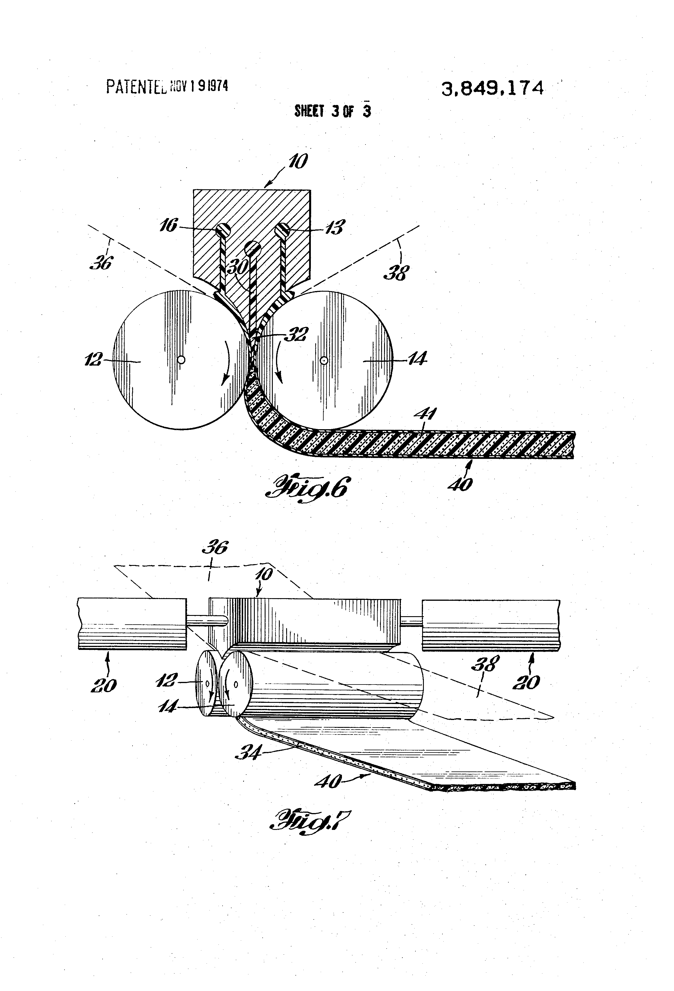 Patent Us3849174 Calendering Of Laminated Polymeric